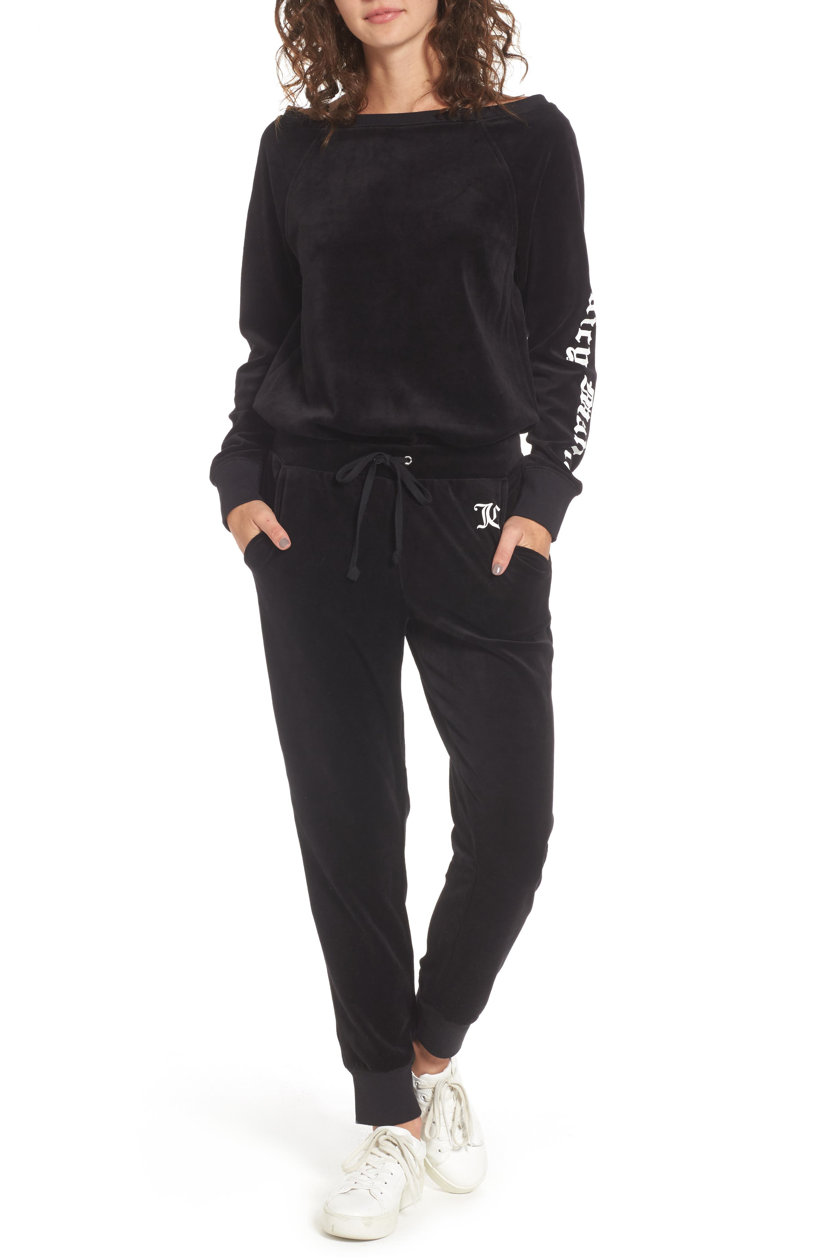 Juicy Couture Juicy Mania Velour Track Jumpsuit