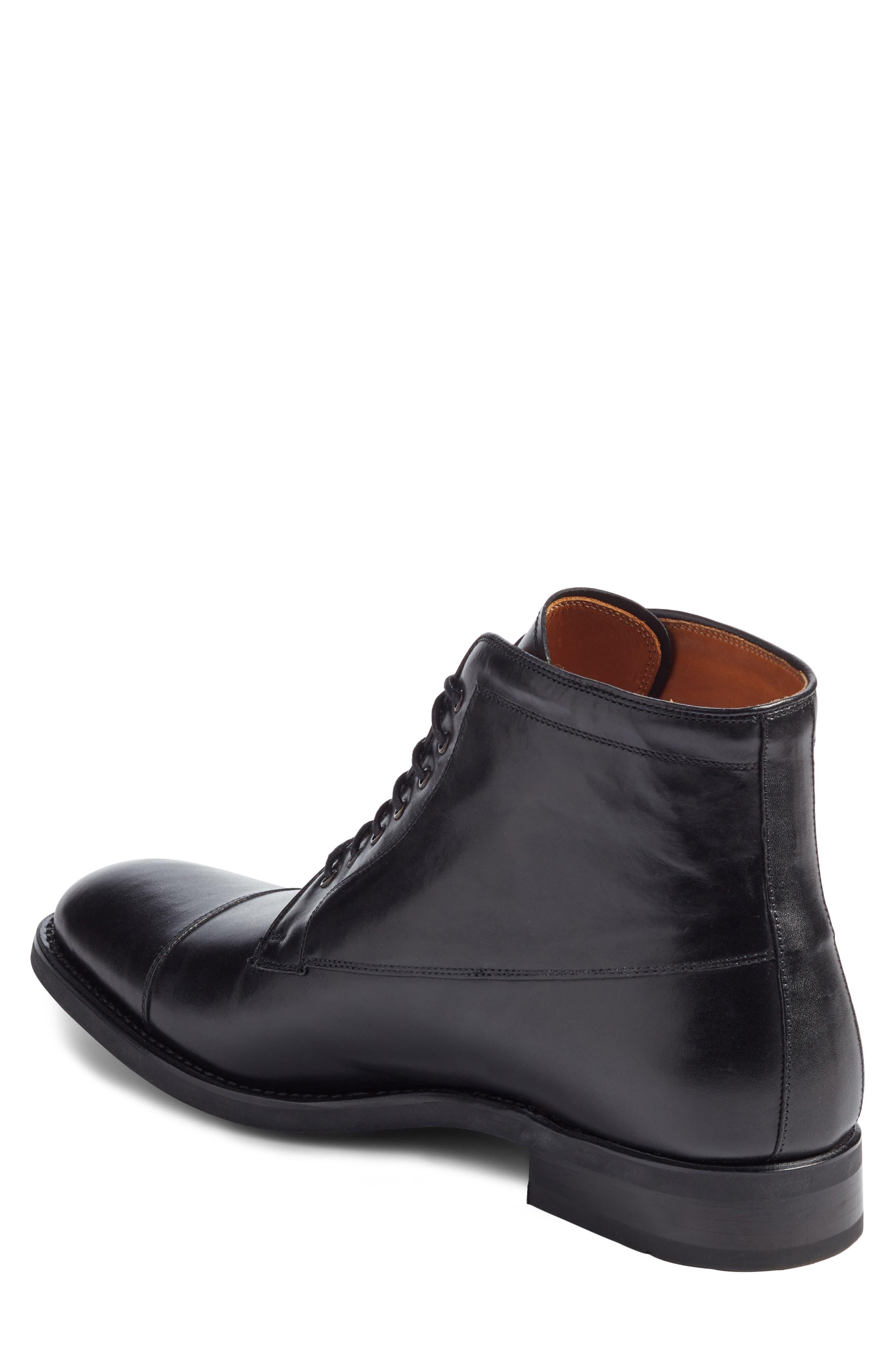 Chester Cap Toe Boot,                             Alternate thumbnail 2, color,                             Black Leather