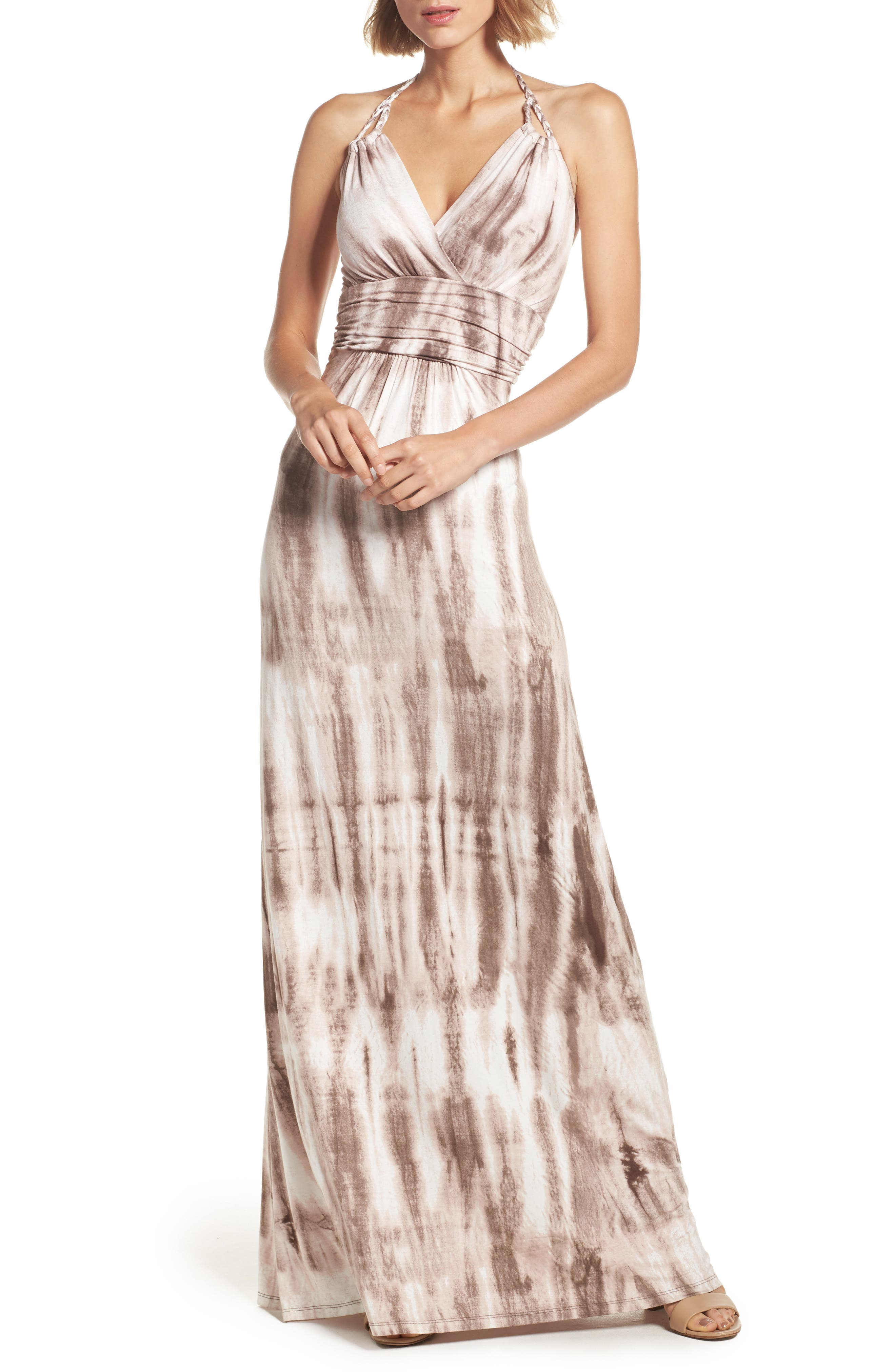 Felicity & Coco Shafter Tie Dye Jersey Halter Maxi Dress (Nordstrom Exclusive)