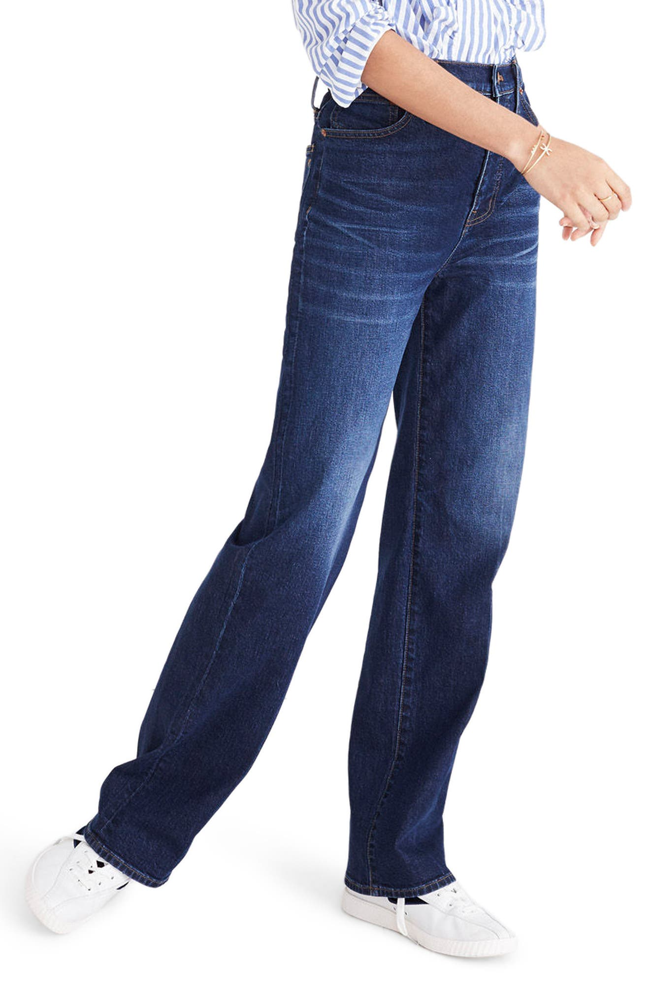 High Waist Wide Leg Jeans,                             Alternate thumbnail 3, color,                             Dorset Wash