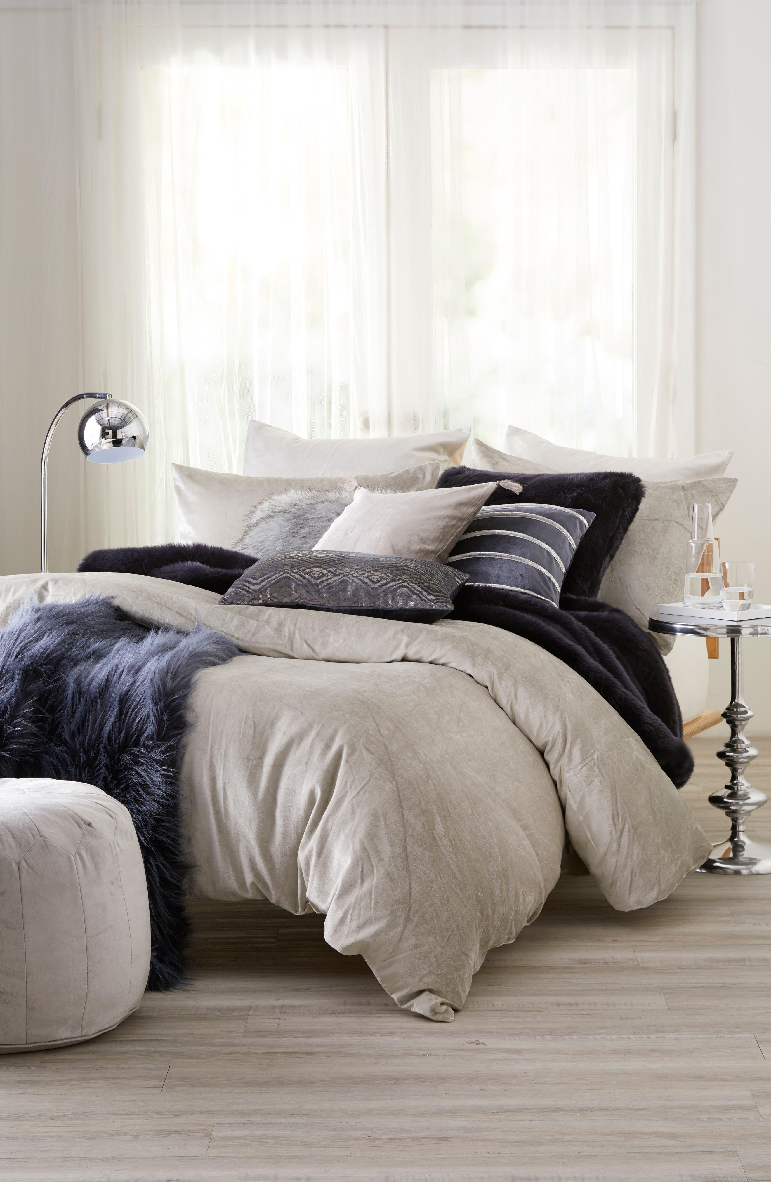 Nordstrom At Home Shimmer Velvet Bedding Collection