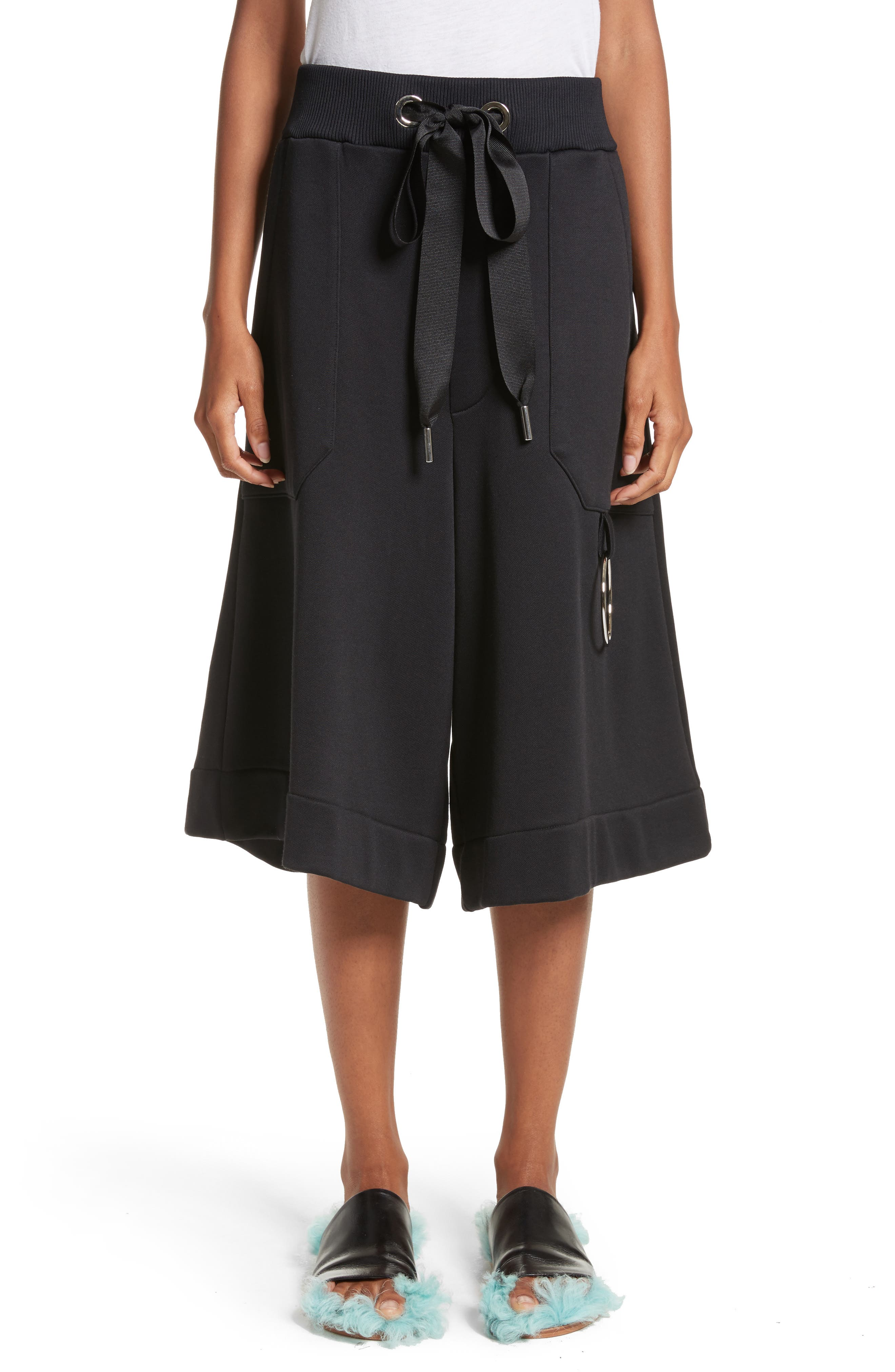 Marques'Almeida Tracksuit Wide Leg Fleece Shorts