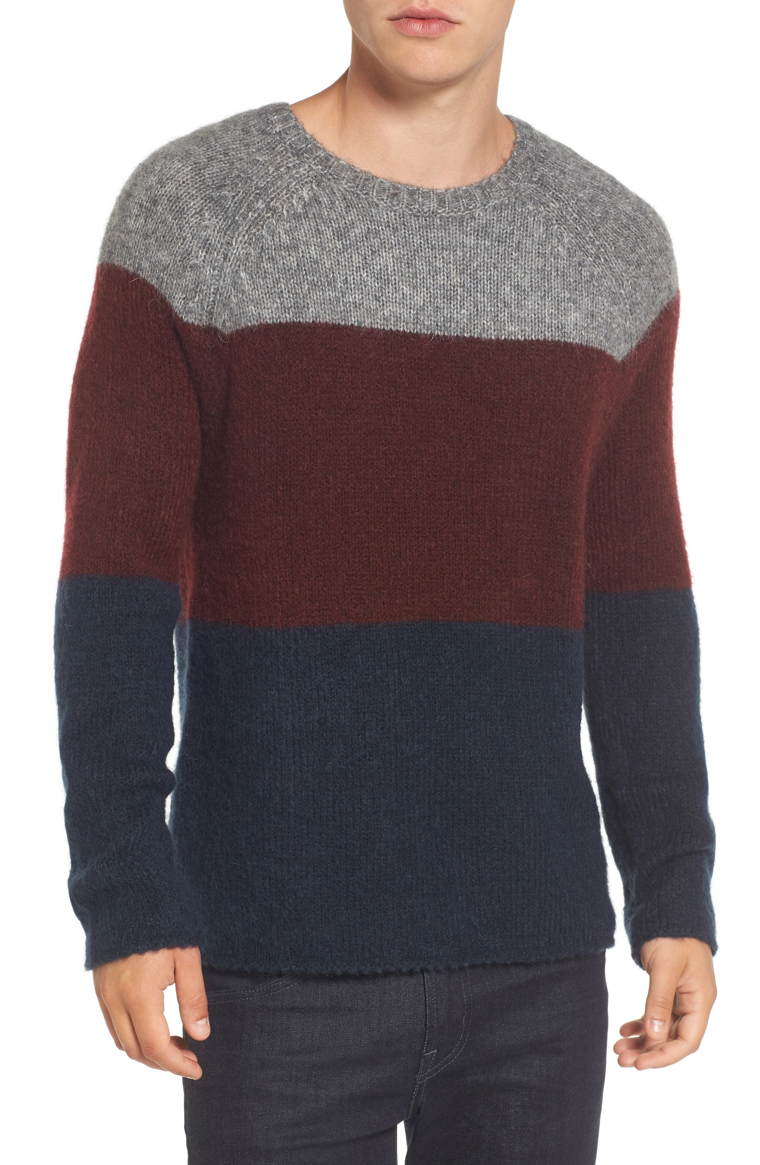French Connection Colorblock Crewneck Sweater