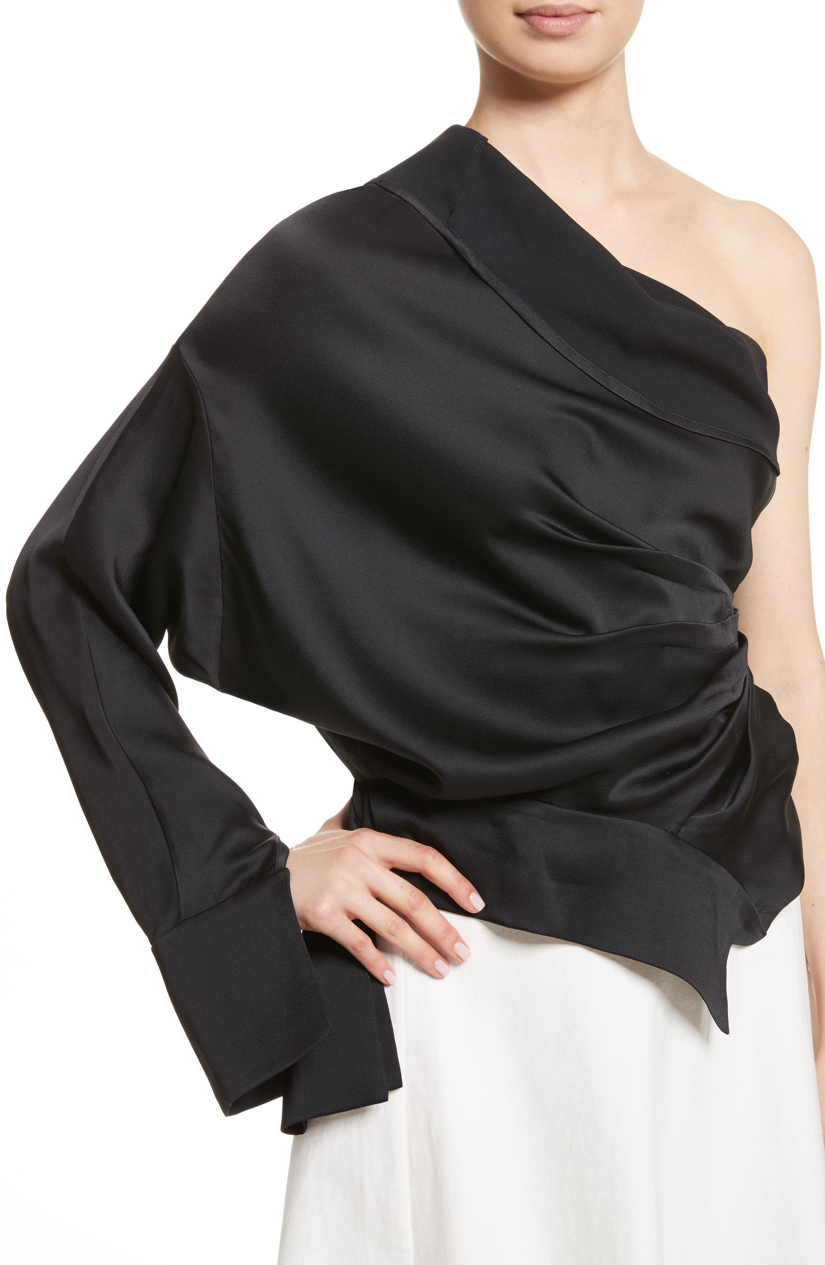 Alternate Image 4  - A.W.A.K.E. Twisted One Shoulder Top