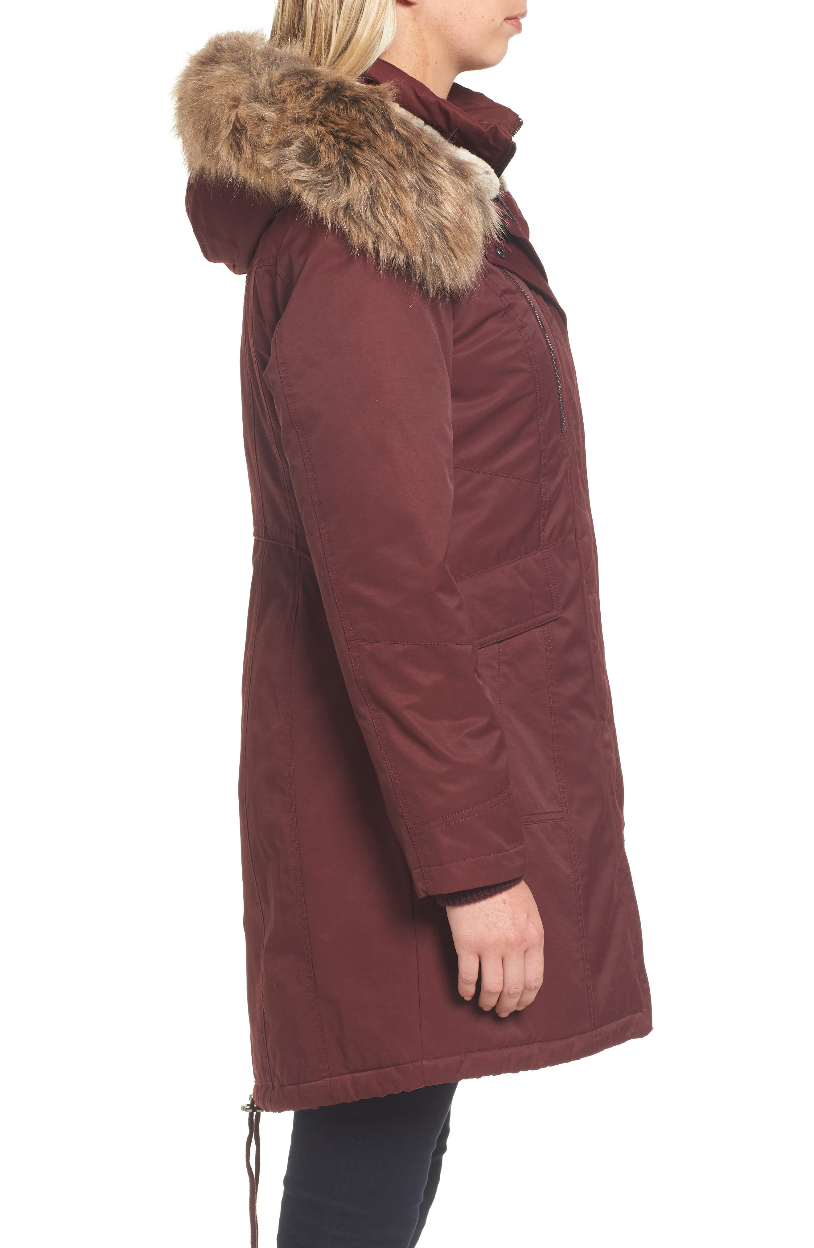Alternate Image 3  - 1 Madison Insulated Parka with Faux Fur Trim