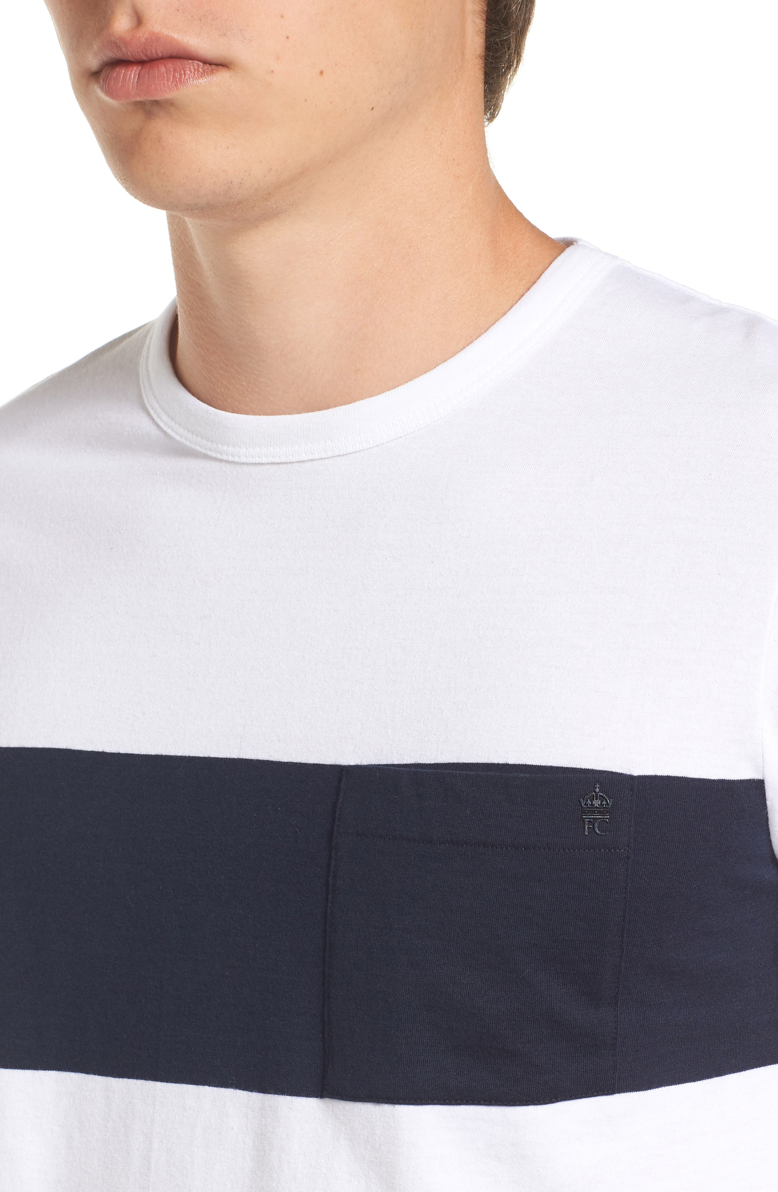 Colorblock Pocket T-Shirt,                             Alternate thumbnail 4, color,                             White/ Marine