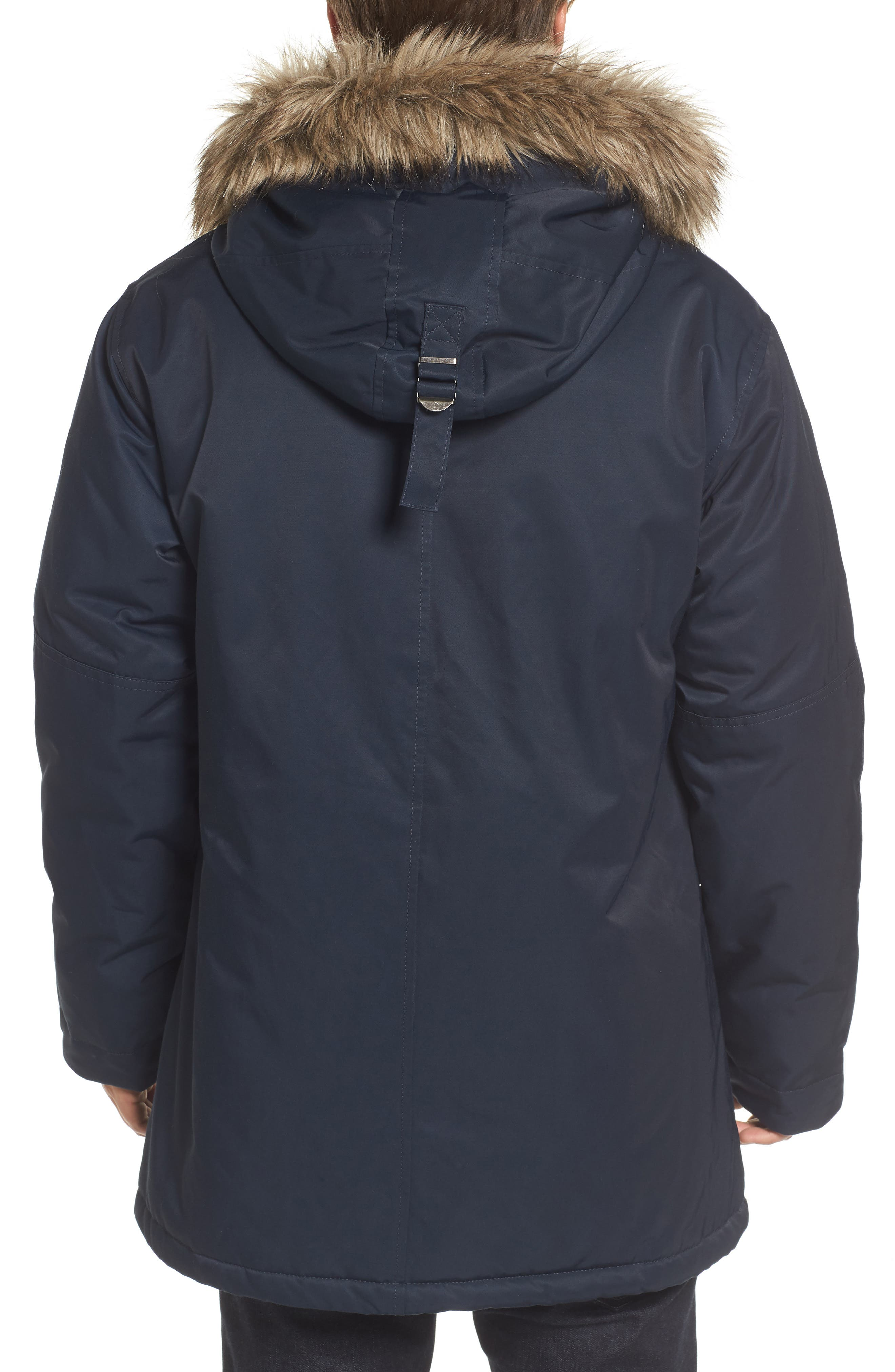 Bystander Hooded Parka with Faux Fur Trim,                             Alternate thumbnail 2, color,                             Marine Blue