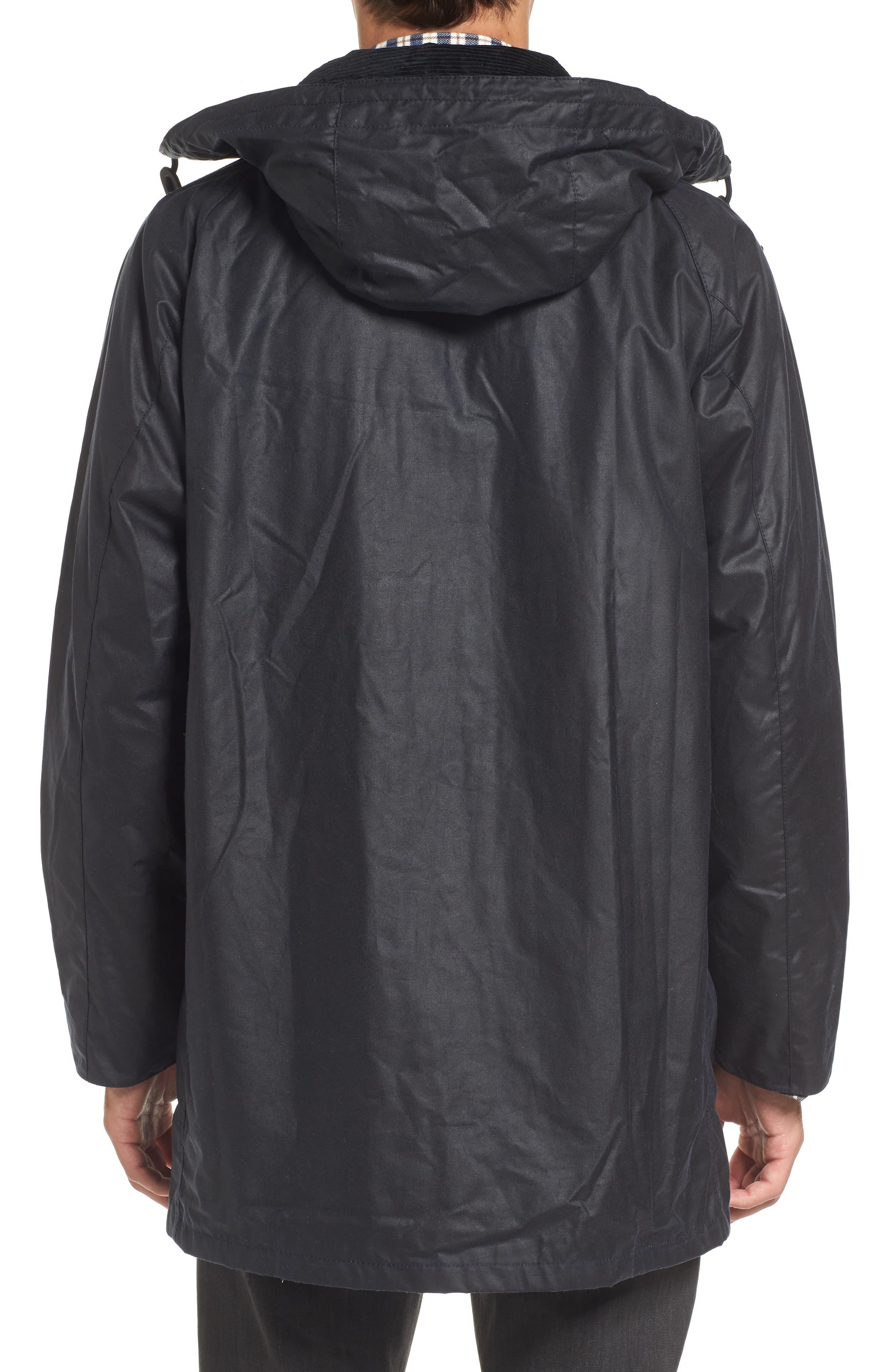 Leighton Waxed Cotton Jacket,                             Alternate thumbnail 2, color,                             Navy