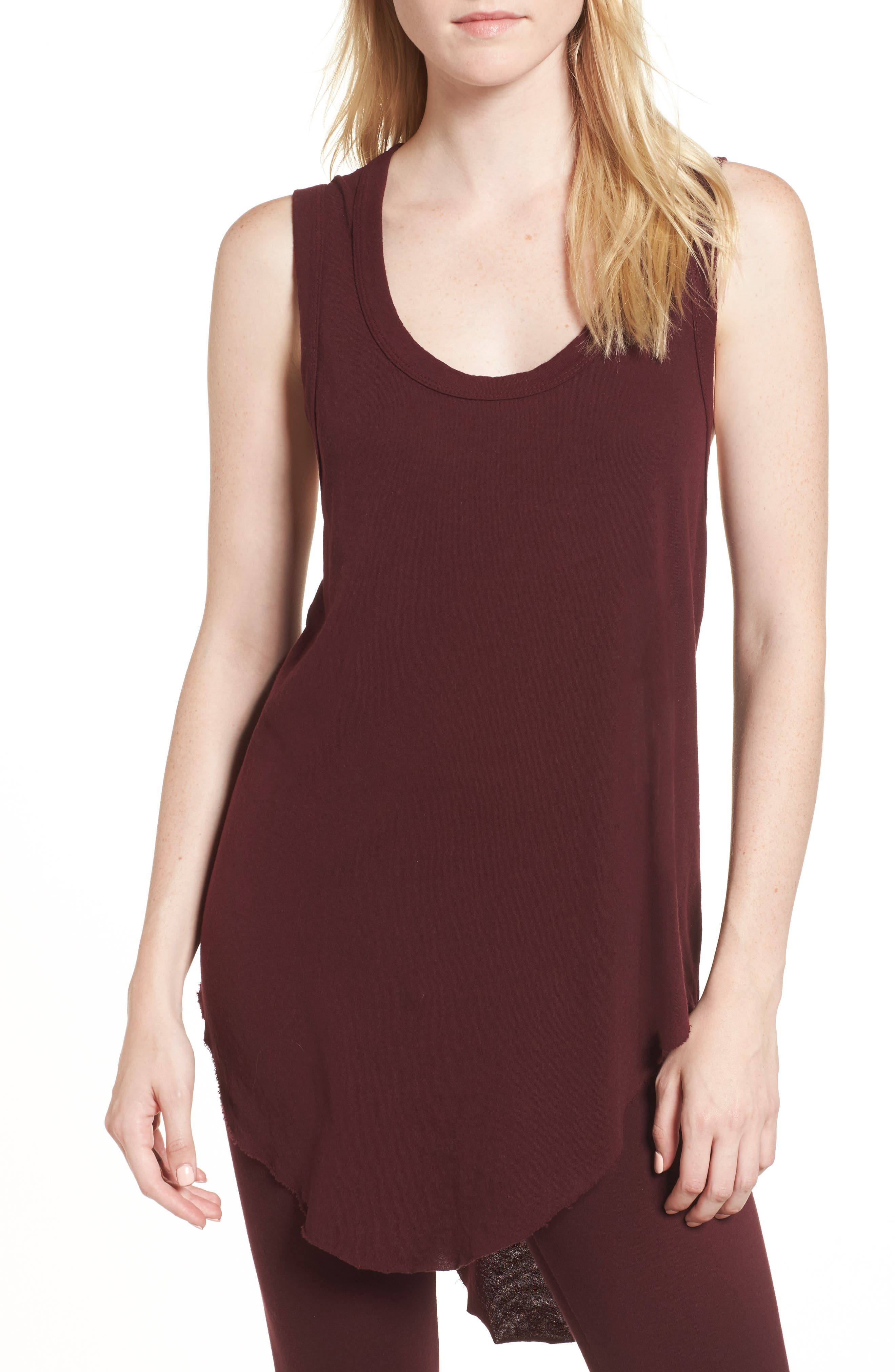 Muscle Tunic,                         Main,                         color, Vamp
