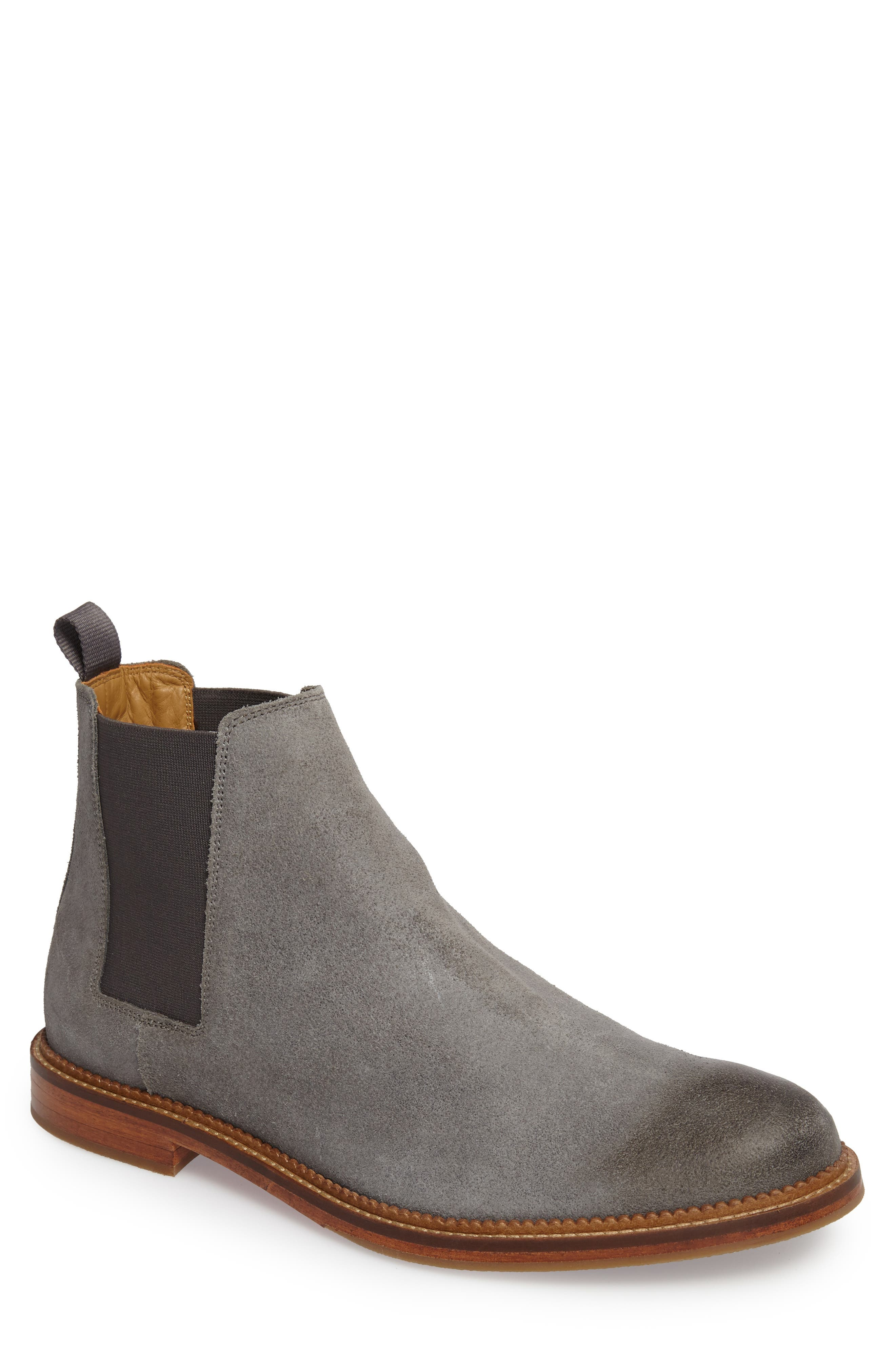 Jamie Chelsea Boot,                             Main thumbnail 1, color,                             Magnet Suede