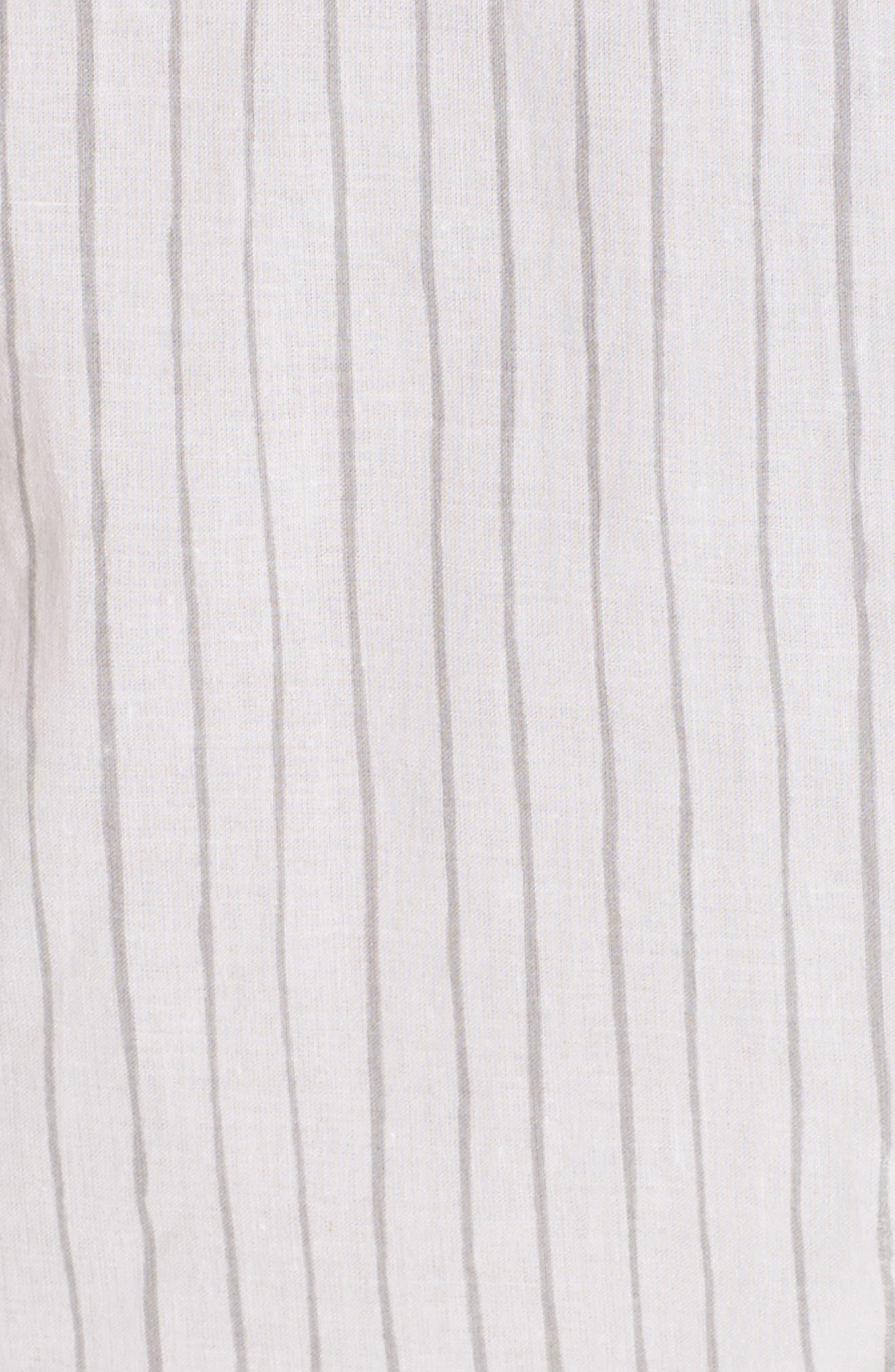 Alternate Image 5  - Pour Les Femmes Pinstripe Robe