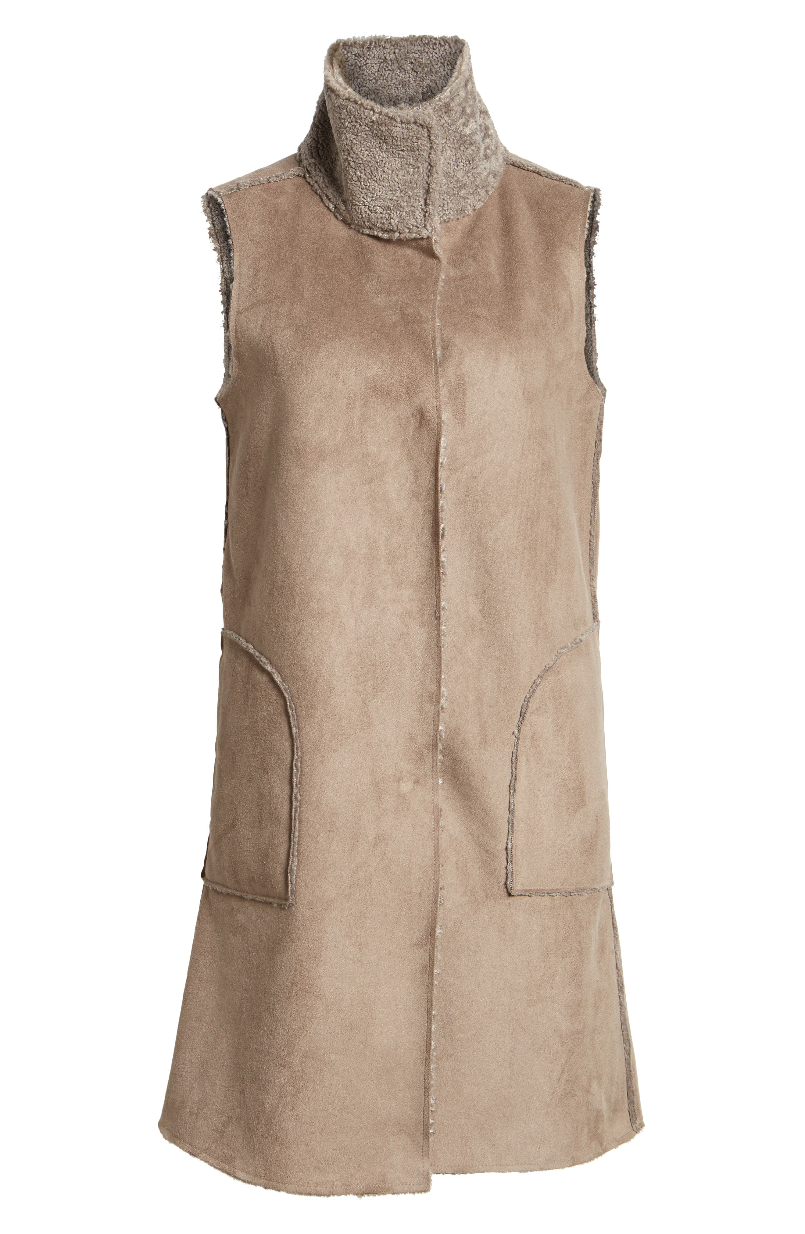 Alternate Image 6  - Dylan Velvet Reversible Faux Shearling Vest