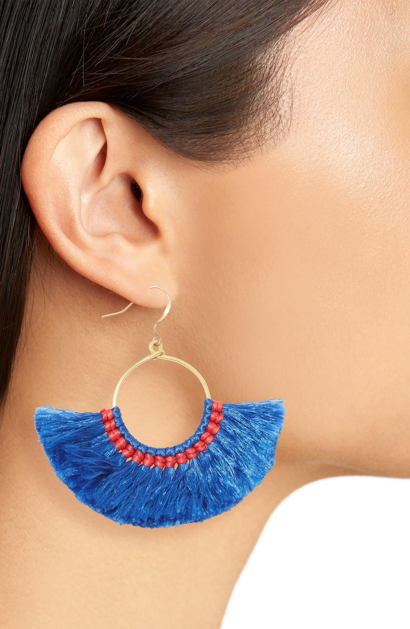 Alternate Image 2  - Nakamol Design Cotton Fan Earrings