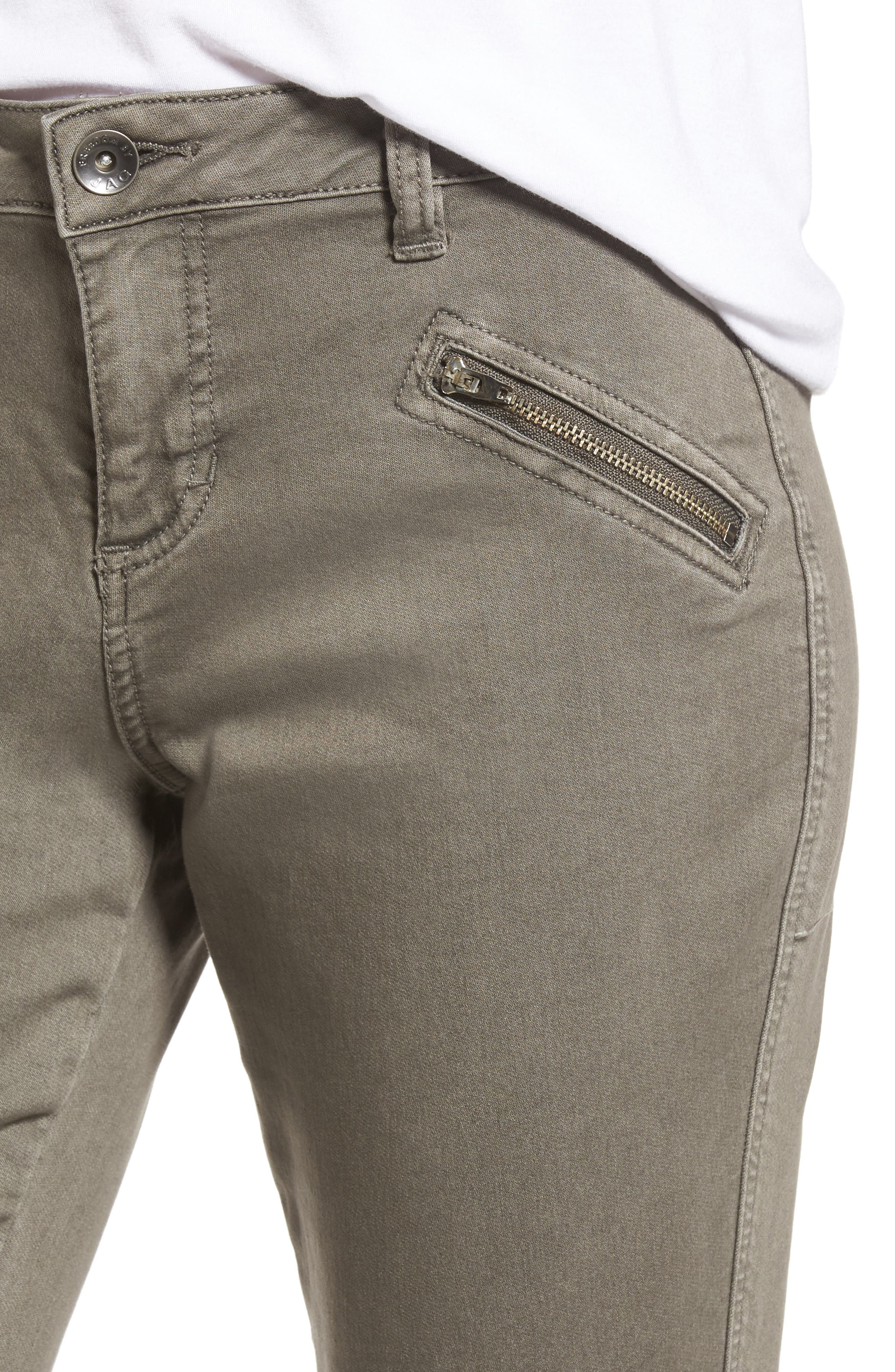 Alternate Image 4  - Jag Jeans Ryan Knit Skinny Jeans (Lava Rock)