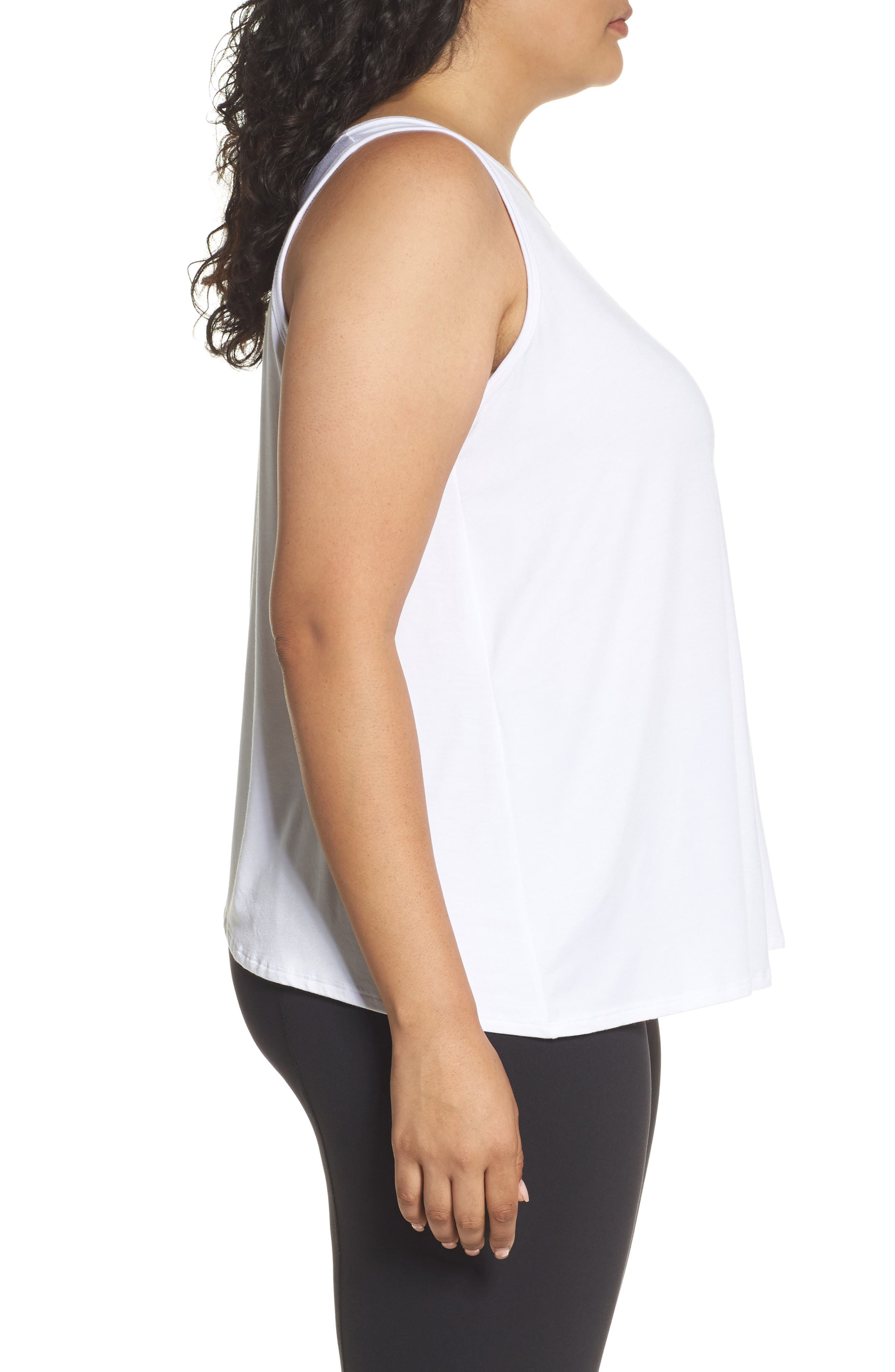 Flutter Back Tank,                             Alternate thumbnail 3, color,                             White