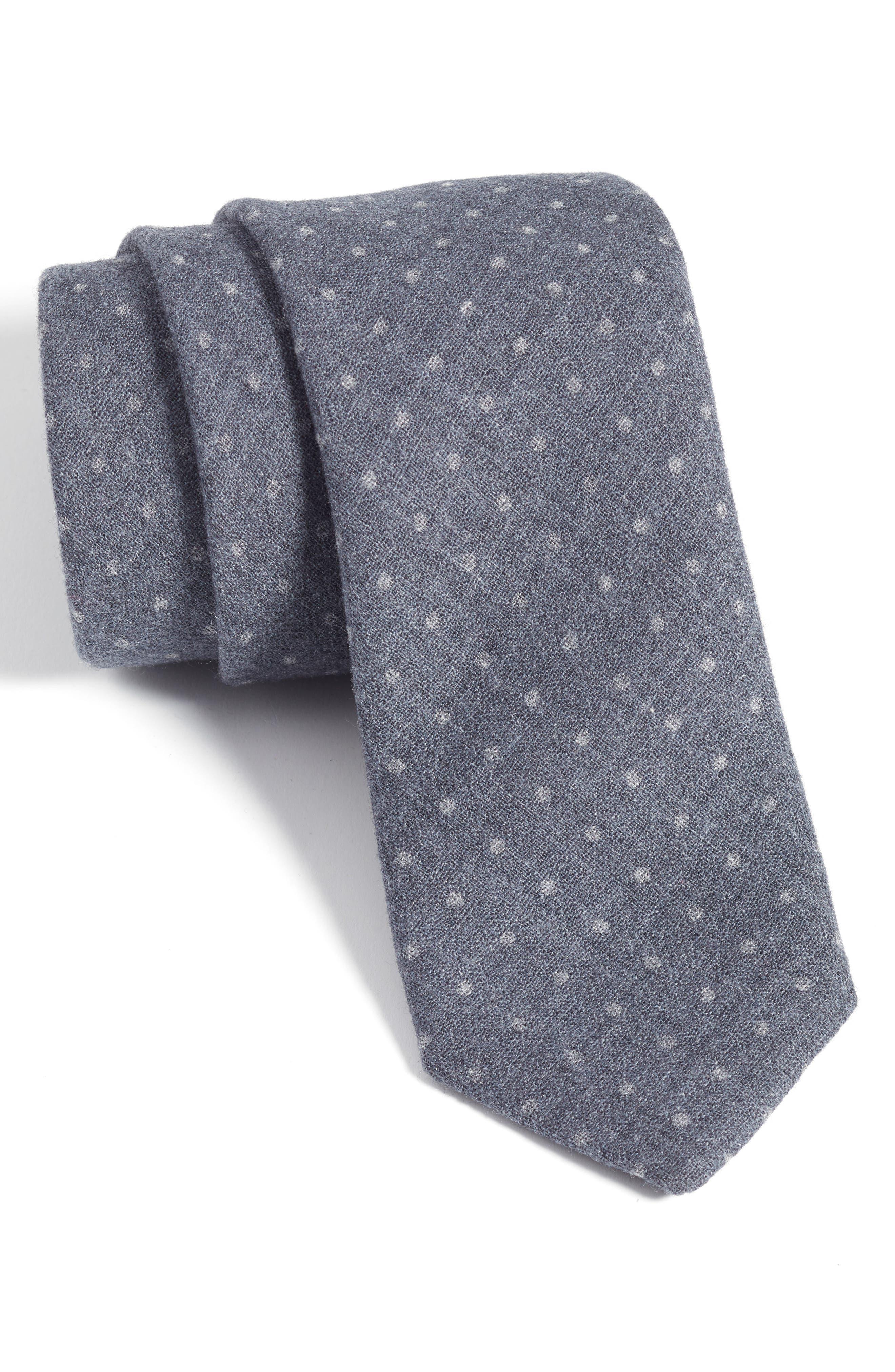 Nordstrom Men's Shop Agro Dot Wool Tie