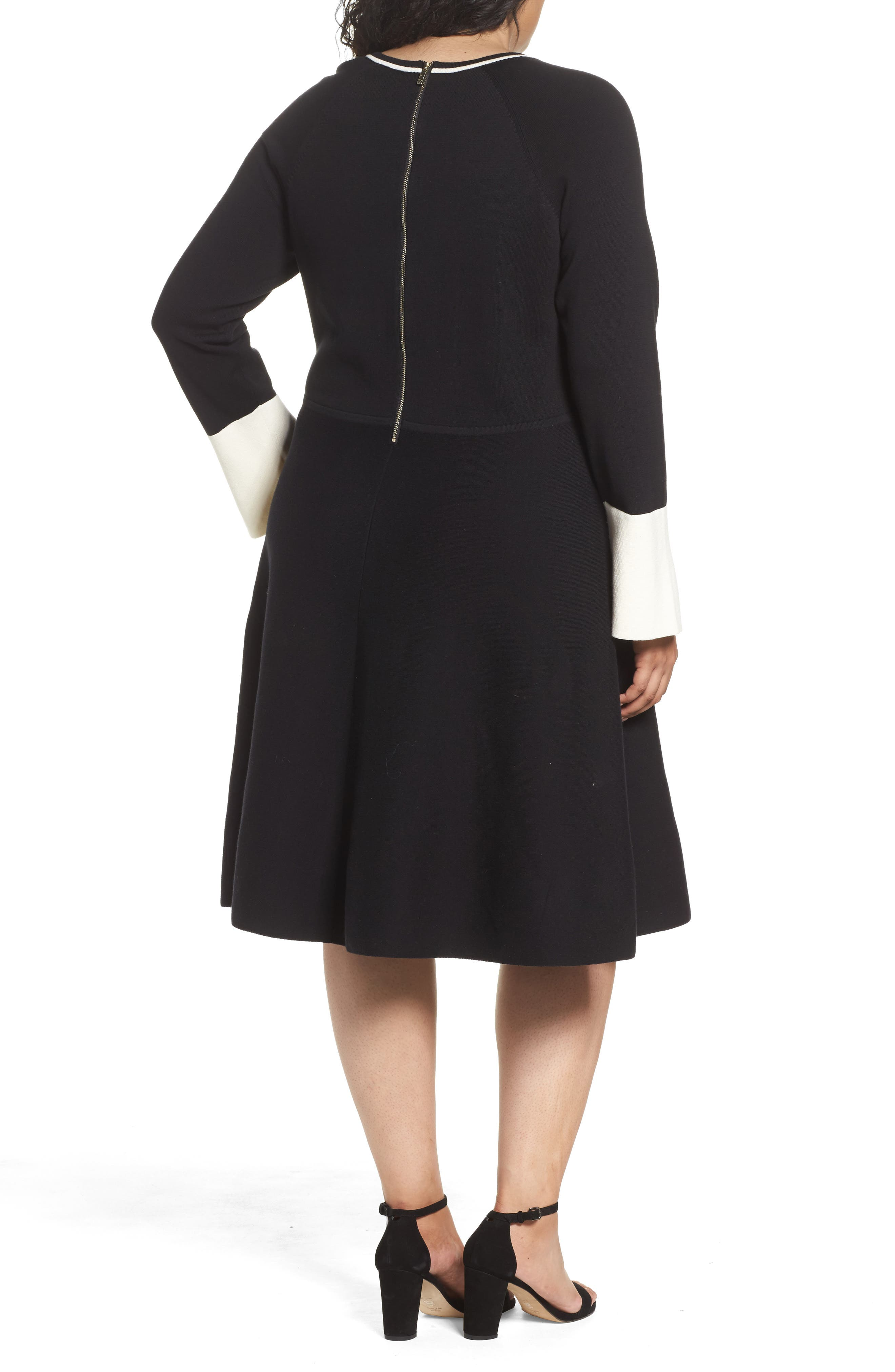 Alternate Image 2  - Vince Camuto Fit & Flare Sweater Dress (Plus Size)