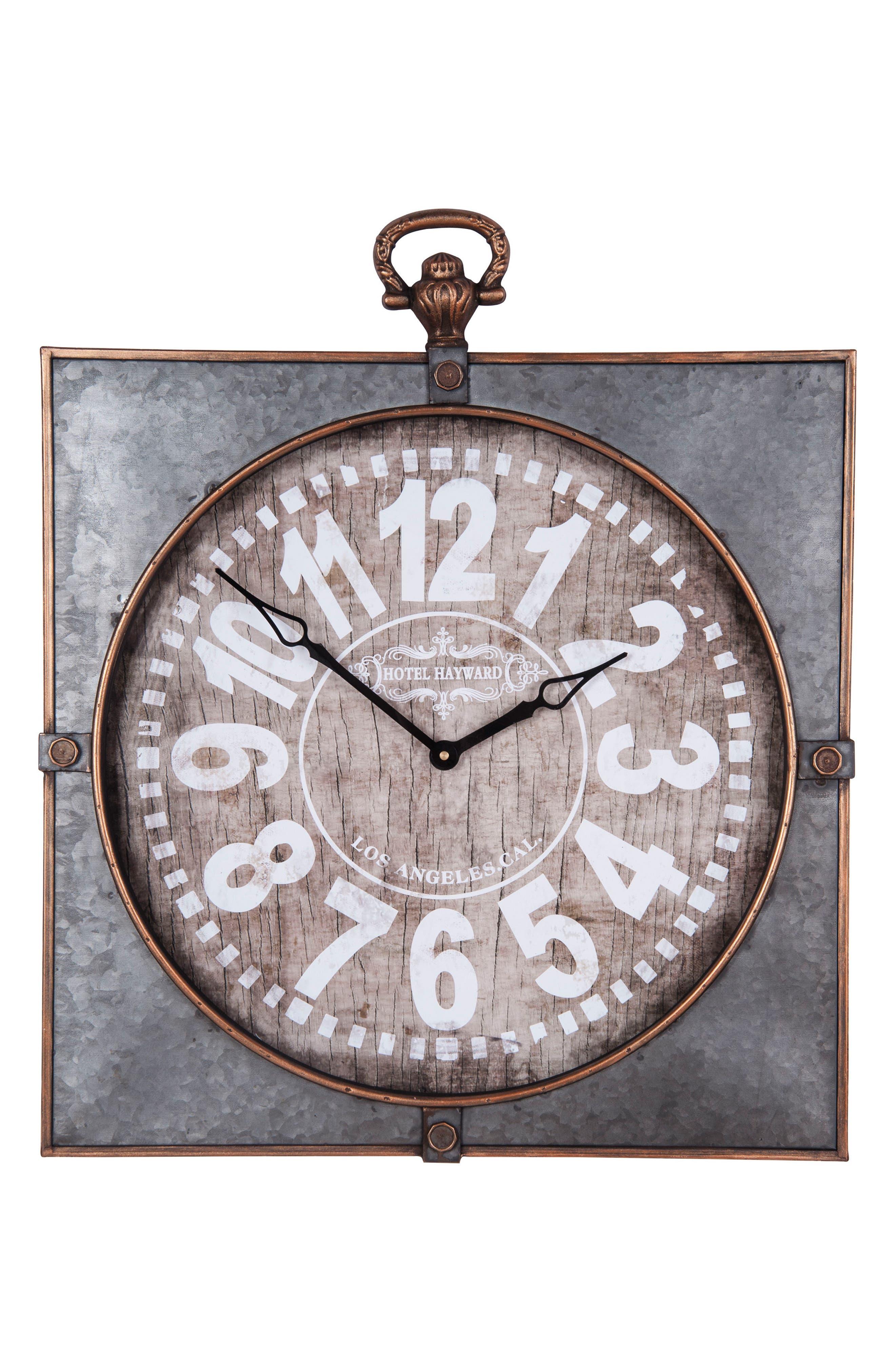 Library Wall Clock,                         Main,                         color, Metal/ Wood
