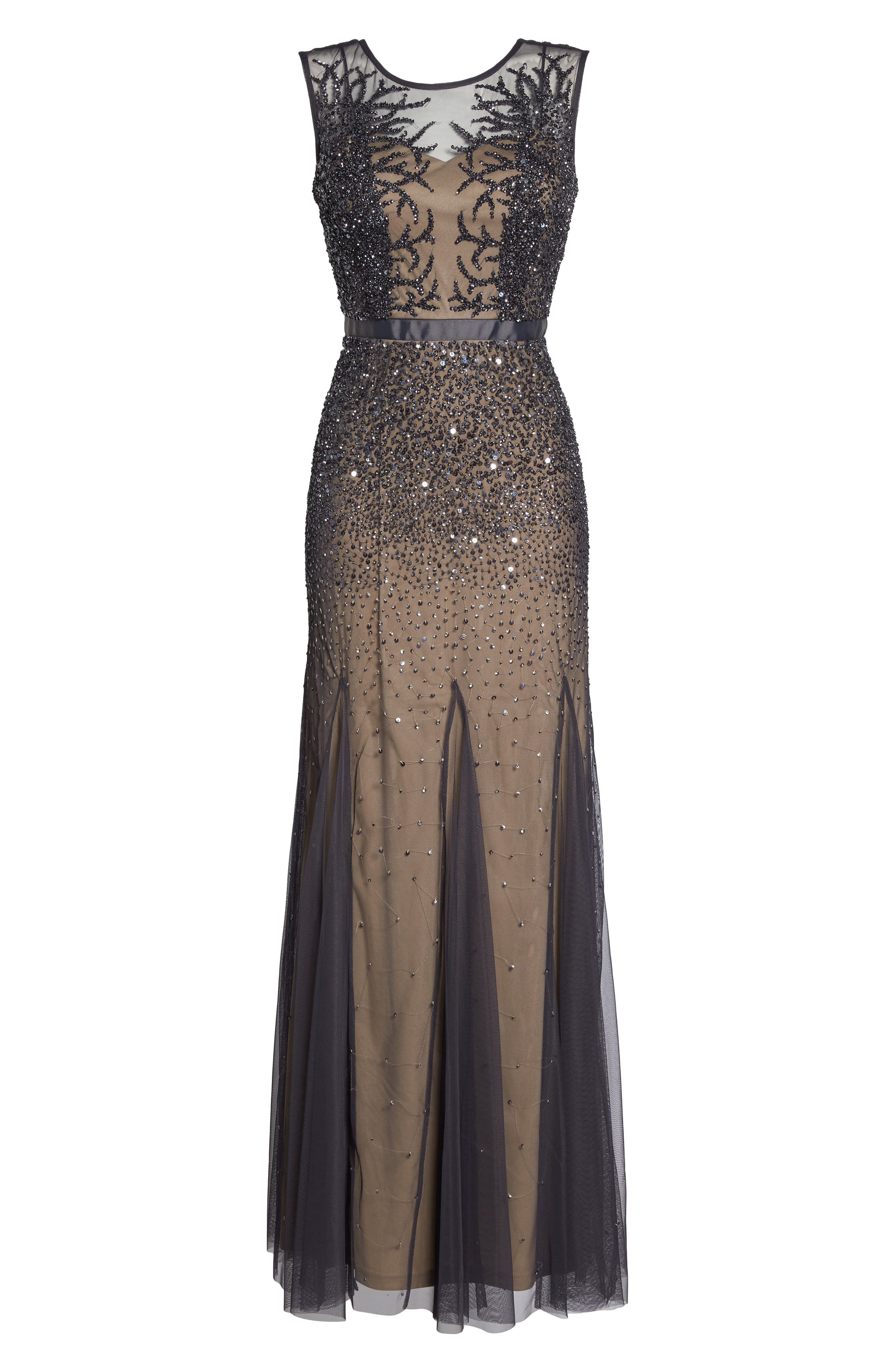 Alternate Image 6  - Adrianna Papell Beaded Chiffon Gown (Regular & Petite)