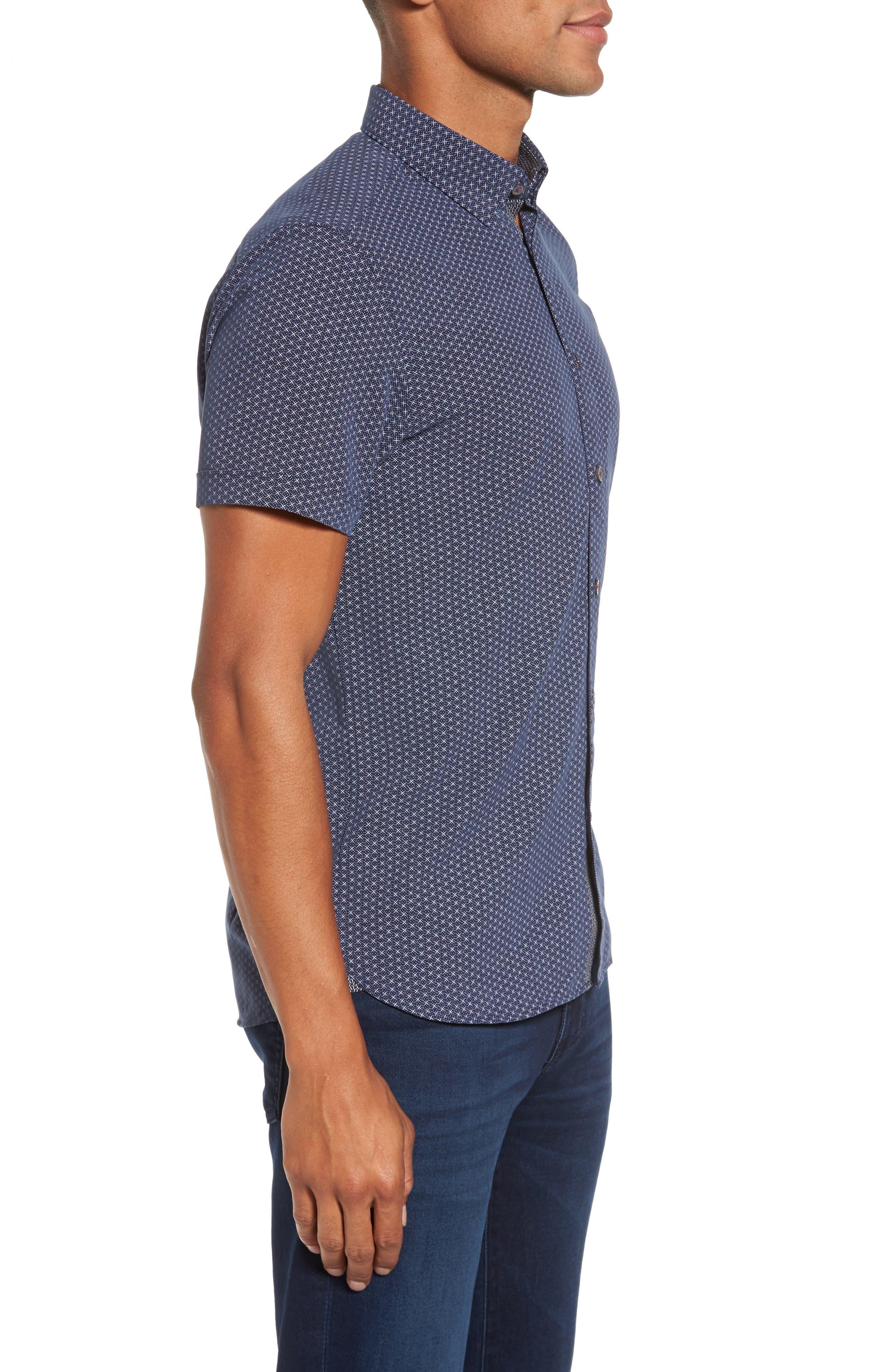 Alternate Image 3  - Ted Baker London Geo Polynosic Slim Fit Woven Shirt