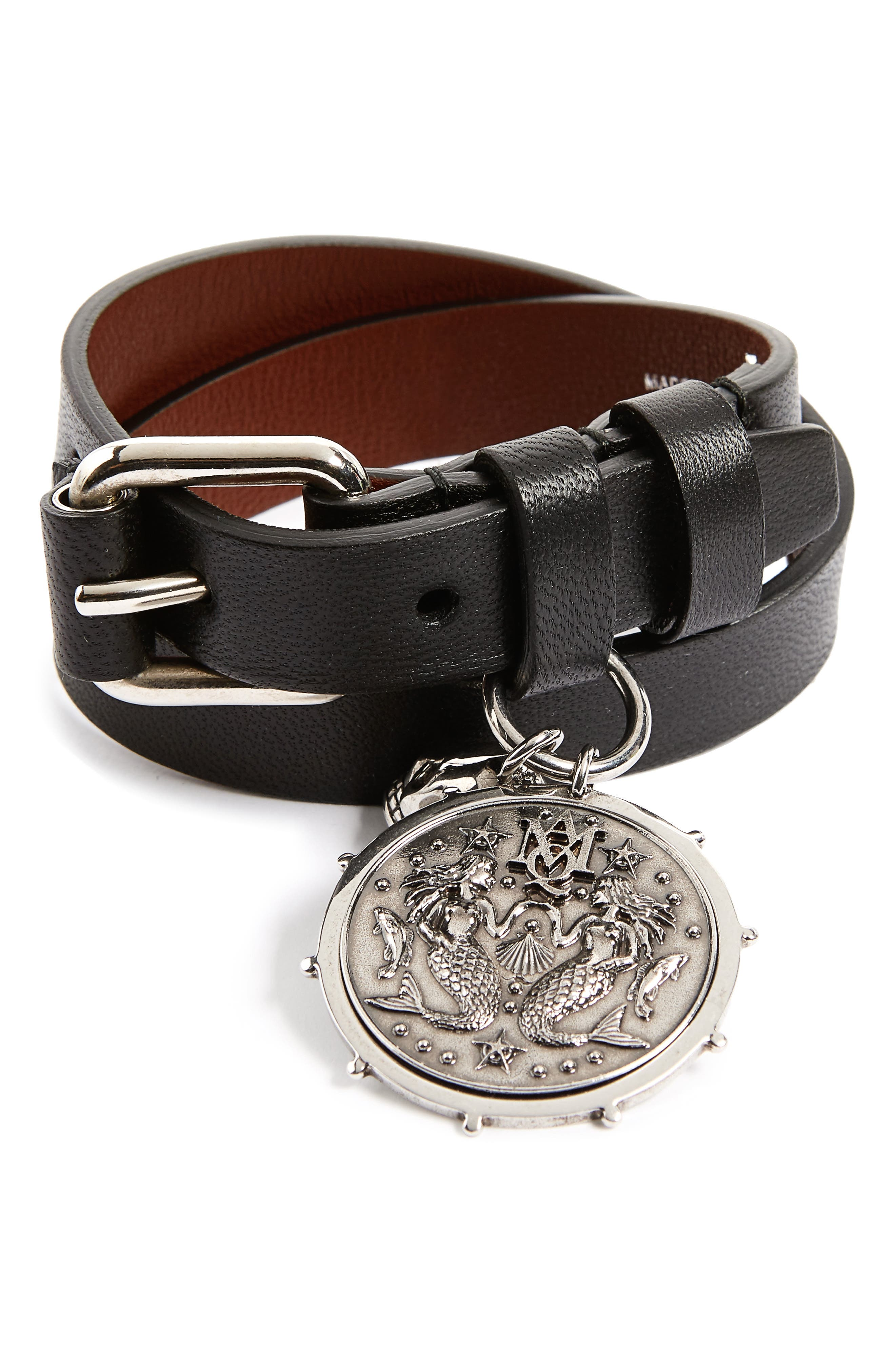 Alexander McQueen Double Wrap Medallion Bracelet