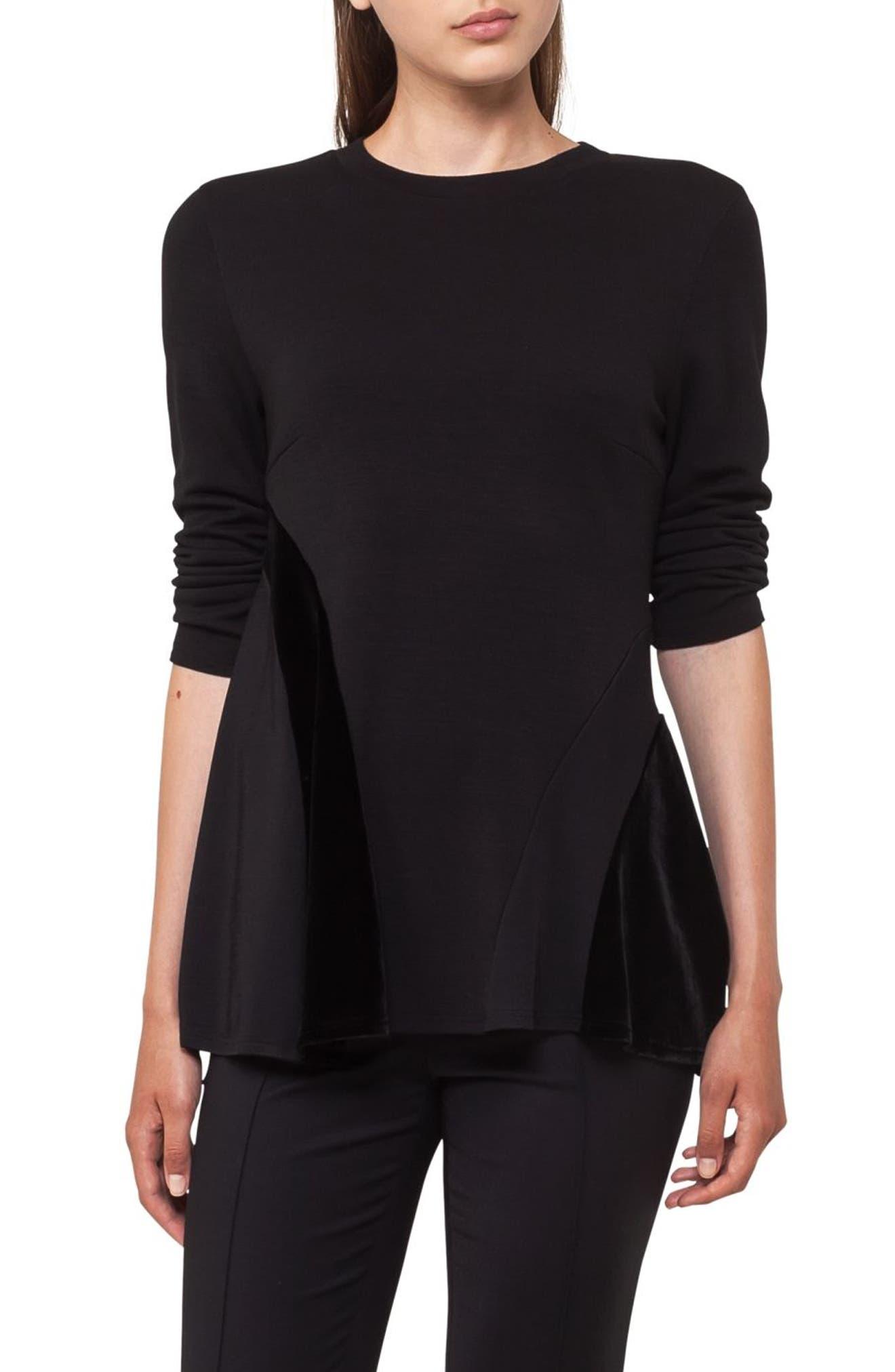 Quad Circle Sweatshirt,                             Main thumbnail 1, color,                             Black