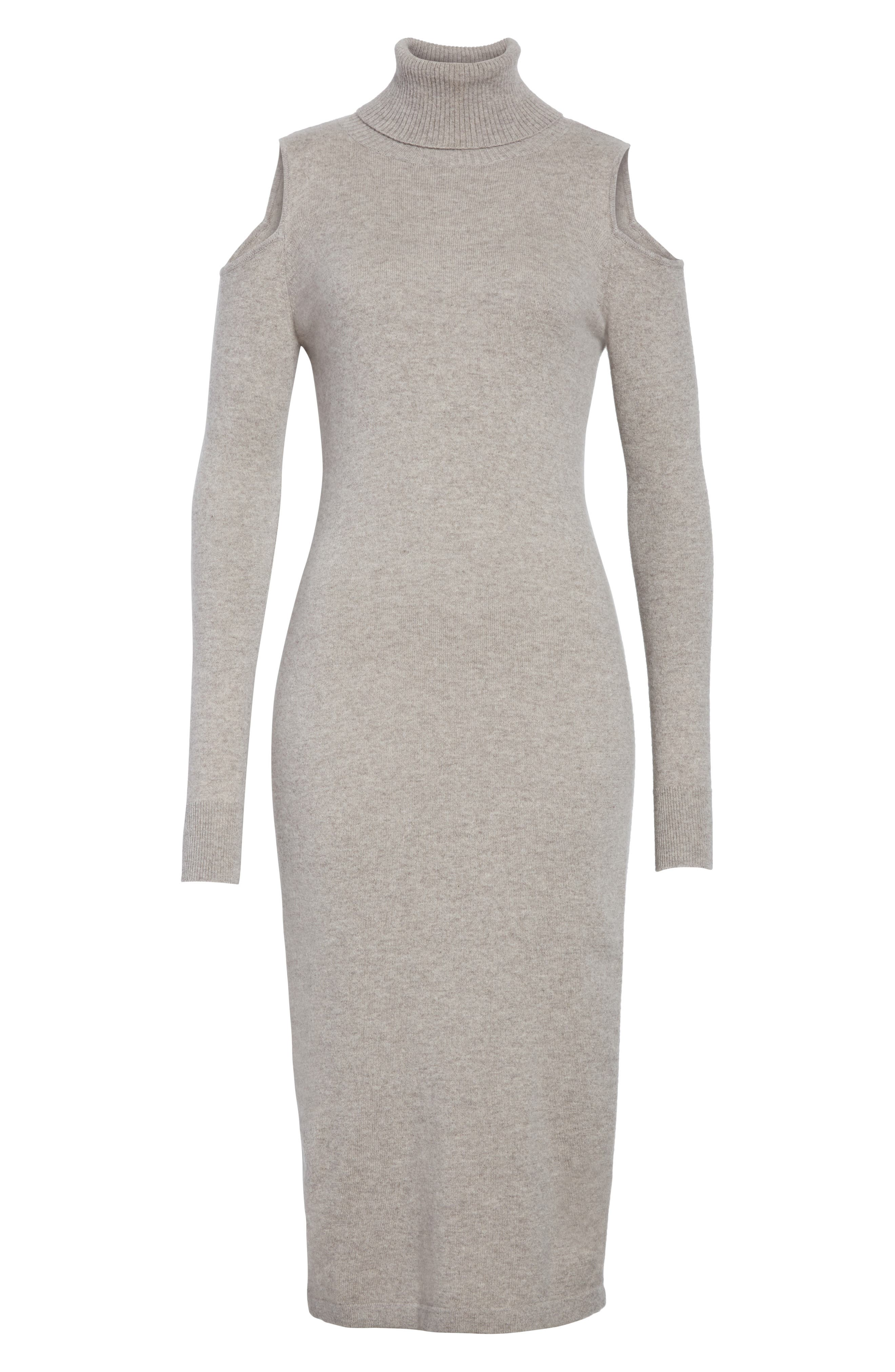 Alternate Image 6  - autumn cashmere Cashmere Cold Shoulder Turtleneck Sweater Dress
