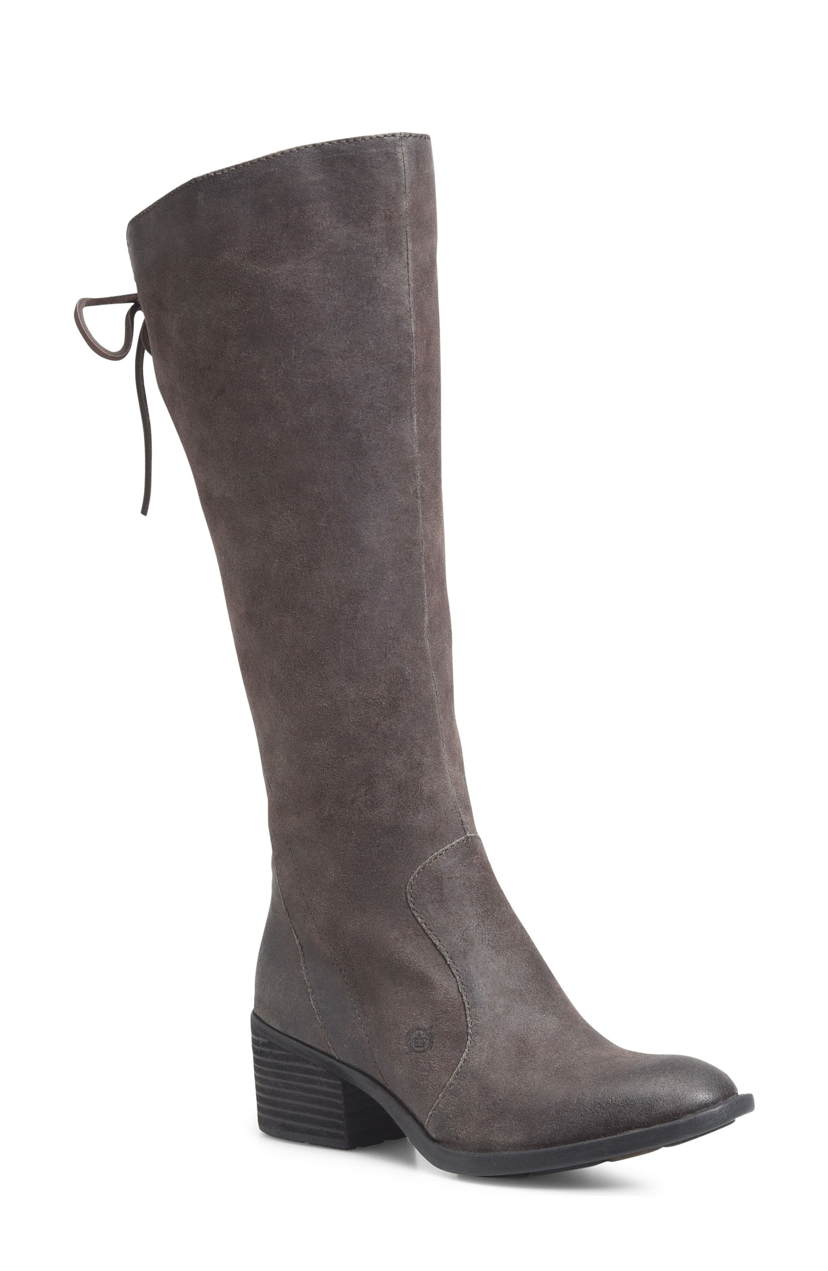 Felicia Knee High Boot,                             Main thumbnail 1, color,                             Grey Distressed Leather
