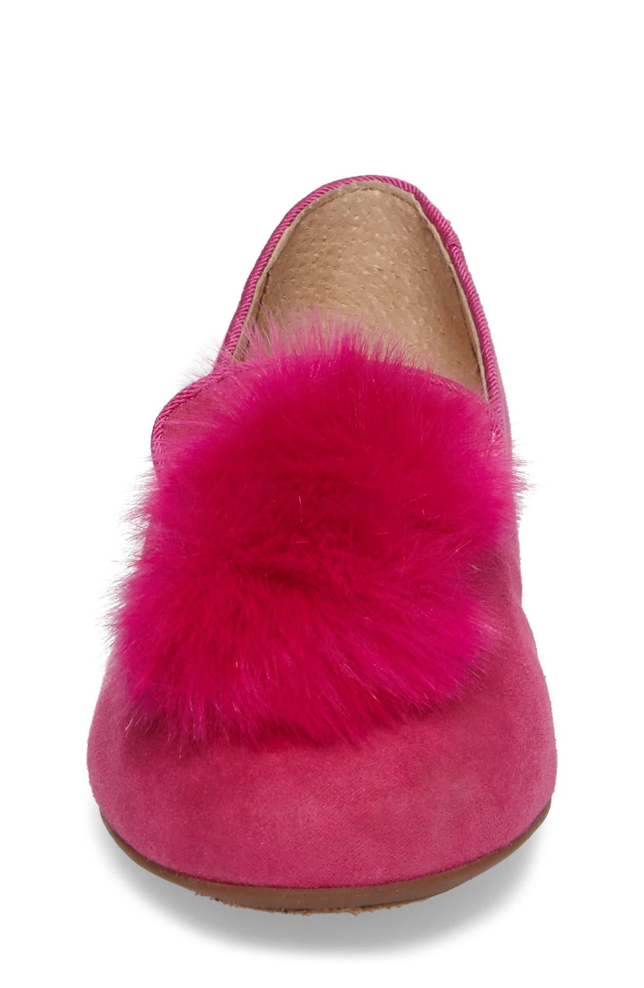 Alternate Image 4  - Vince Camuto Caela Faux Fur Loafer (Toddler, Little Kid & Big Kid)