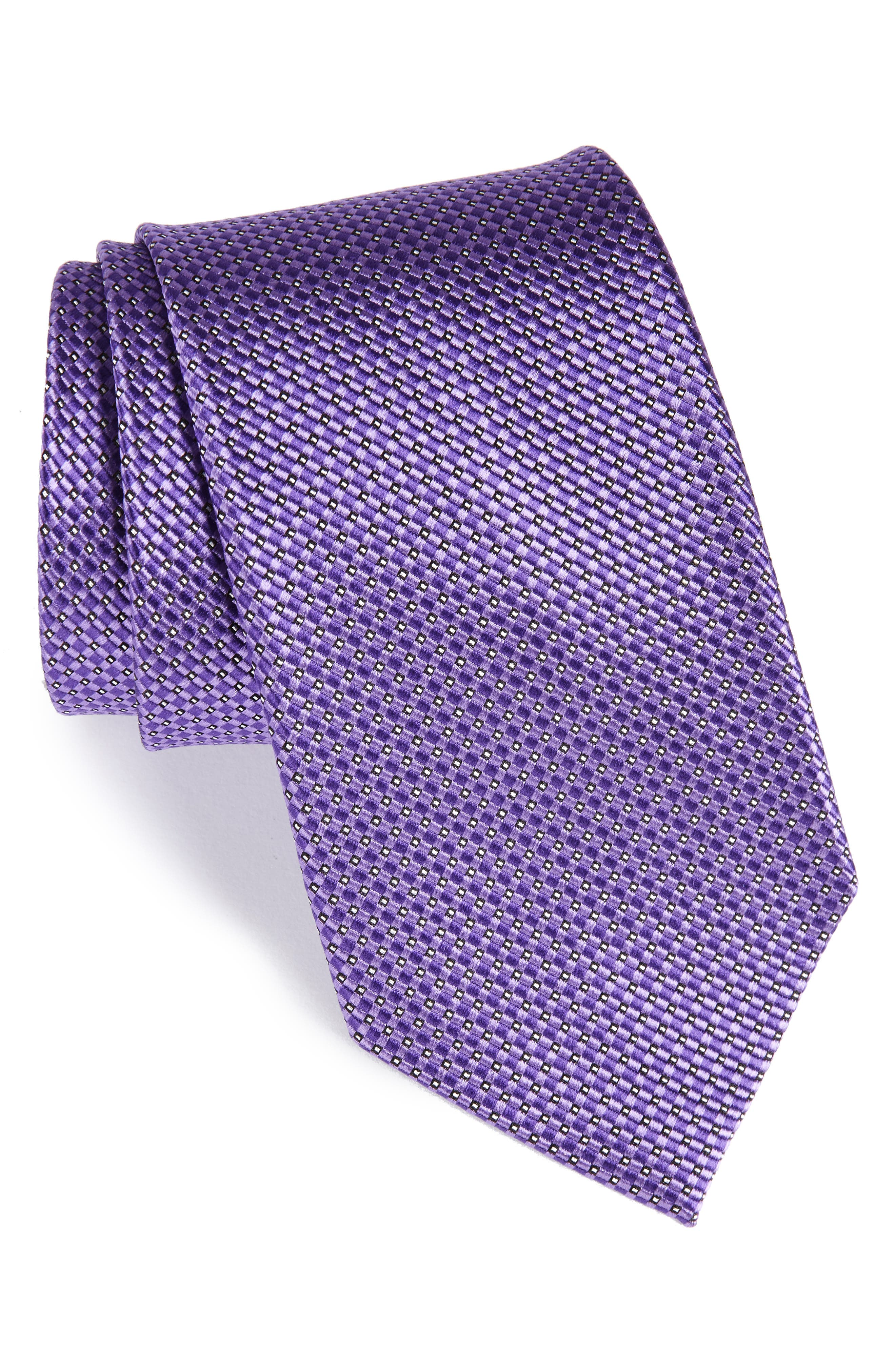 Main Image - Nordstrom Men's Shop Microgrid Silk Tie