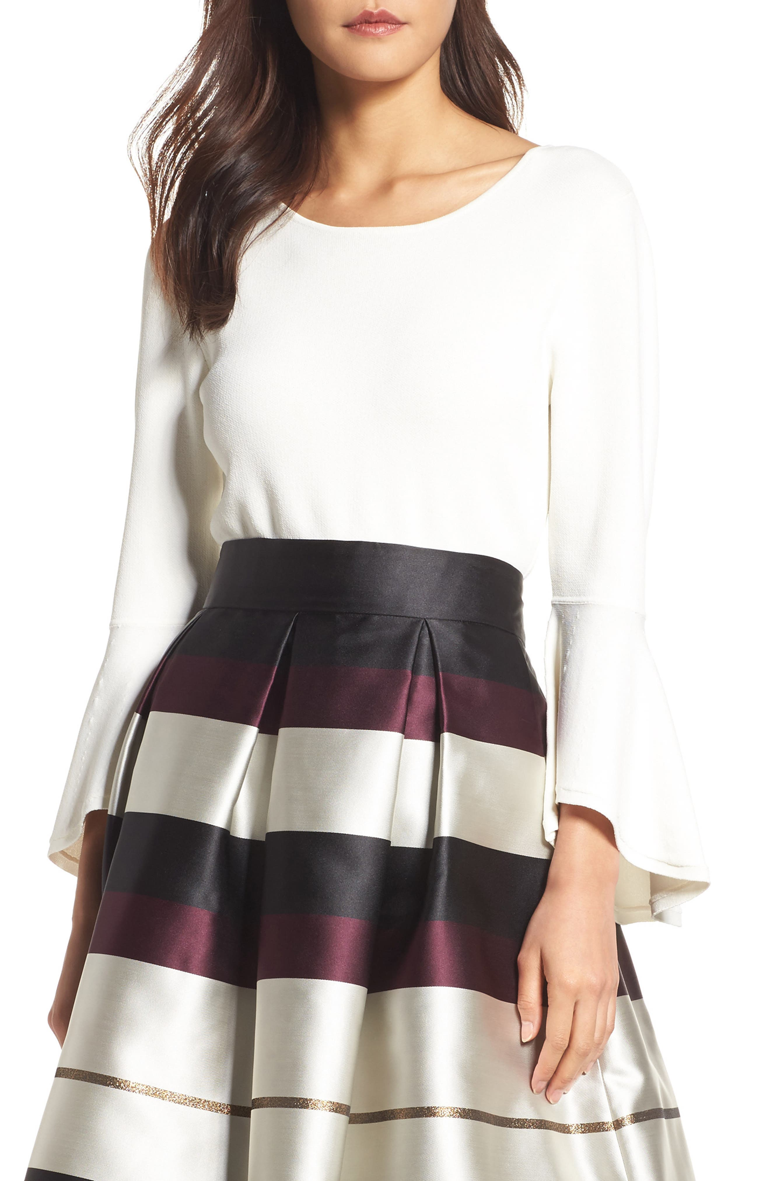 Eliza J Bell Sleeve Sweater