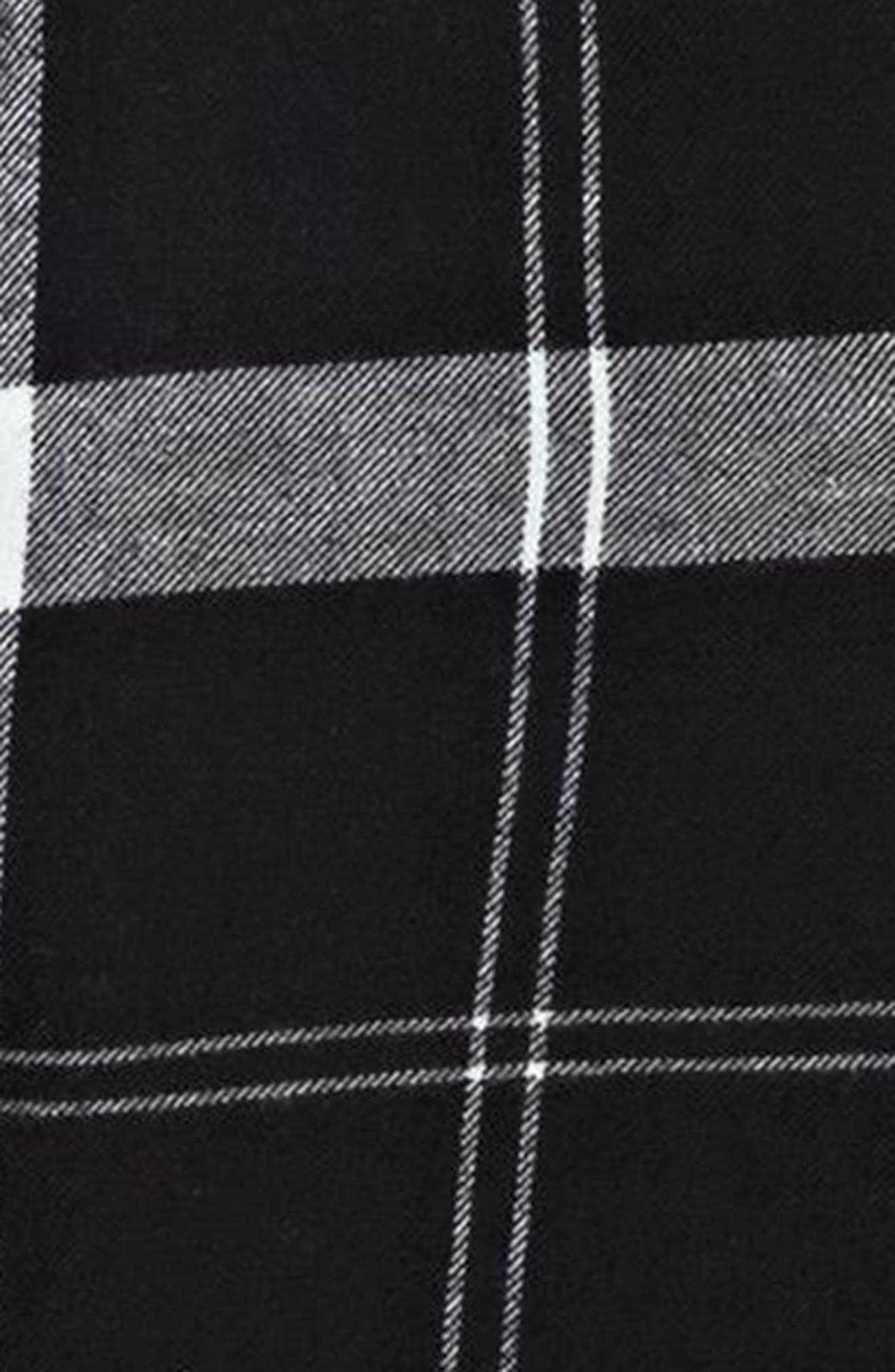 Heavy Feelings Plaid Cotton Shirt,                             Alternate thumbnail 4, color,                             Checked Plaid Combo Anthracite