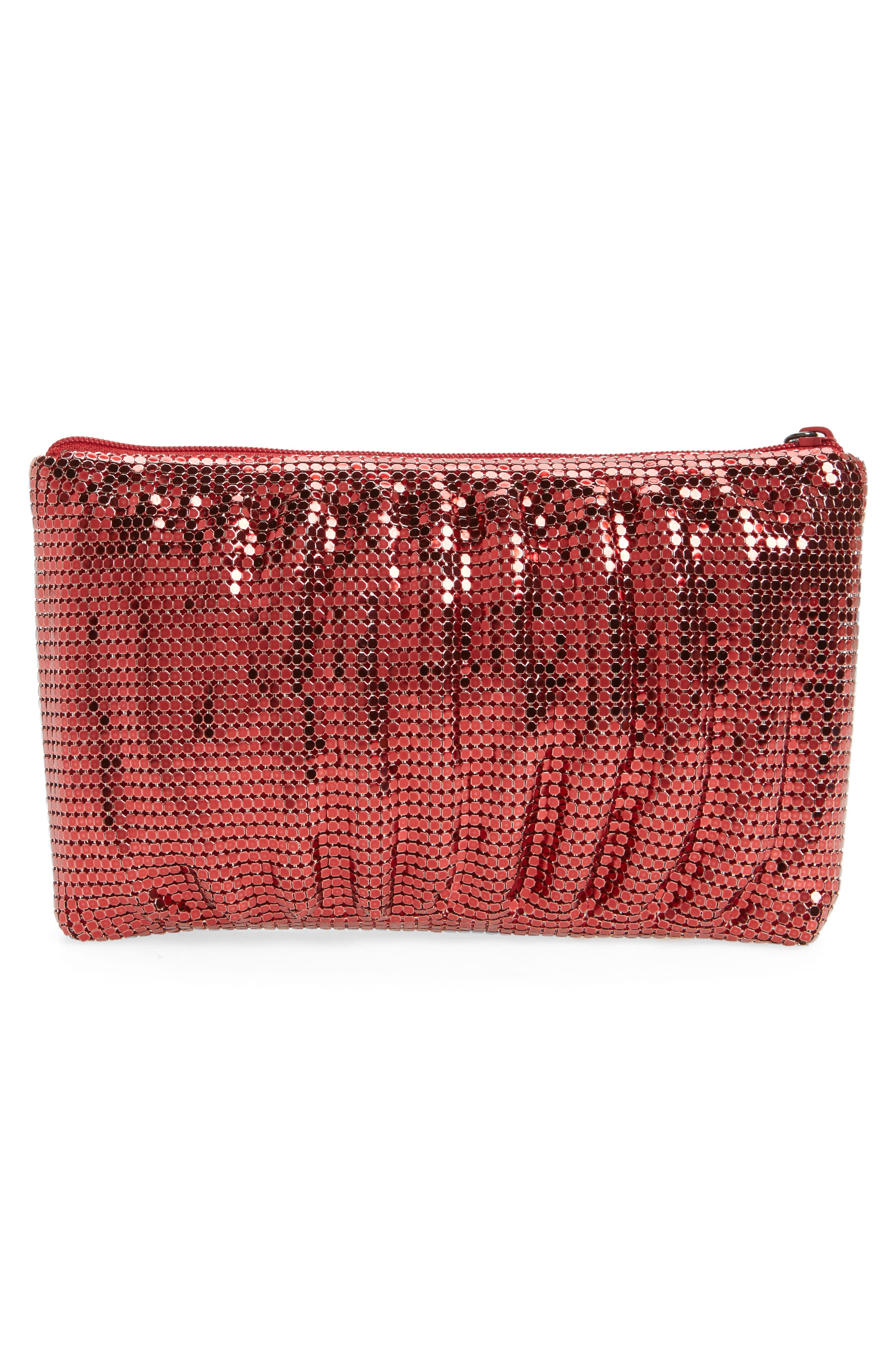 Alternate Image 3  - Whiting & Davis Shirred Mesh Pouch Clutch