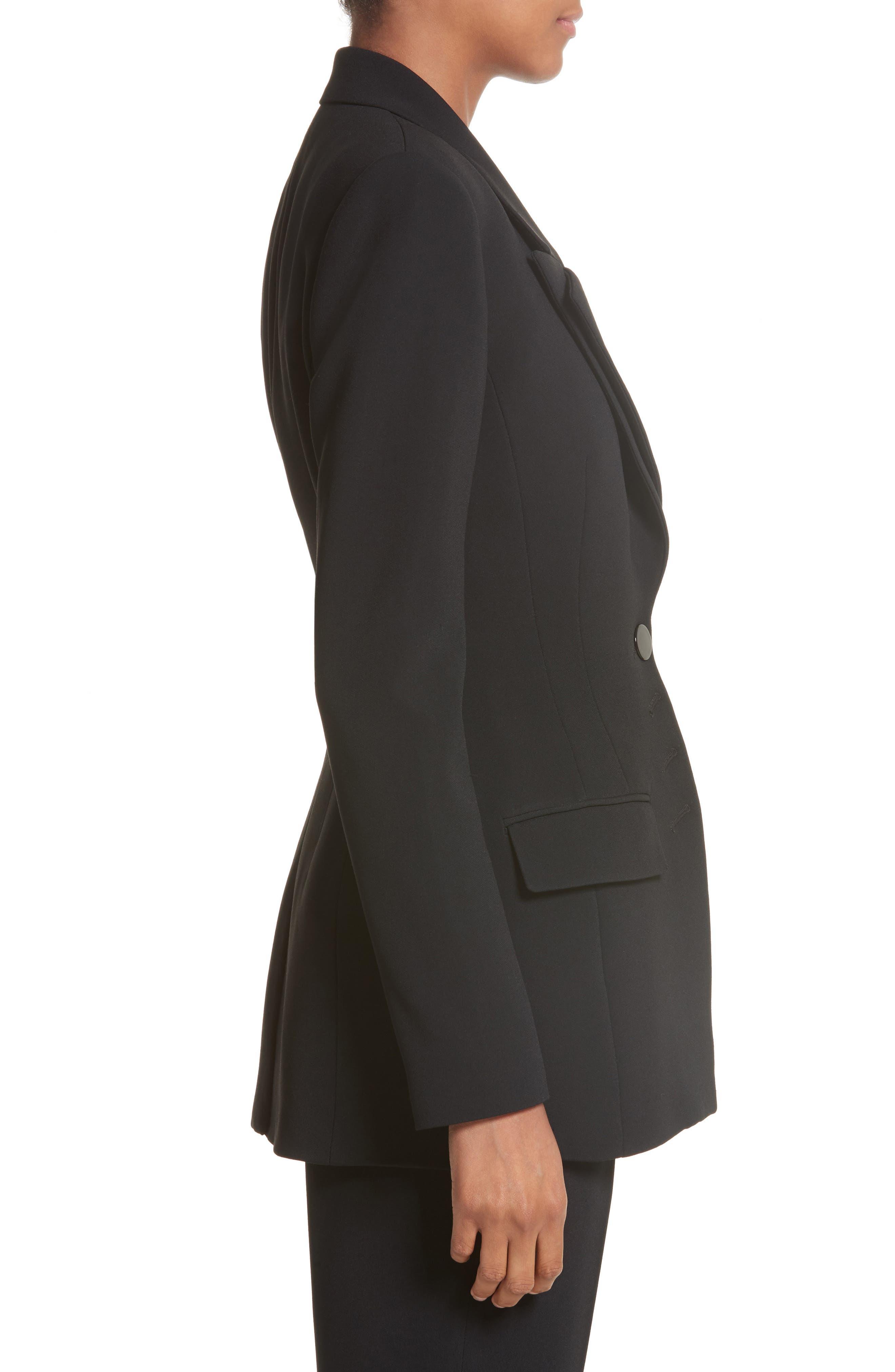 Multi Button Jacket,                             Alternate thumbnail 4, color,                             Black