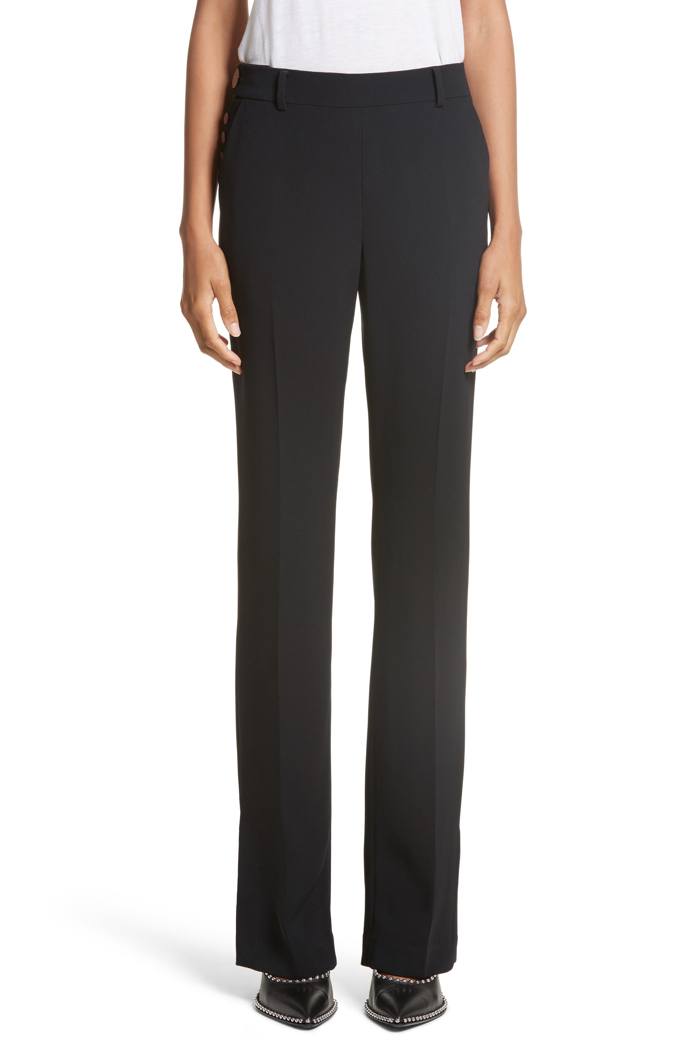 Side Snap Bootcut Pants,                         Main,                         color, Black