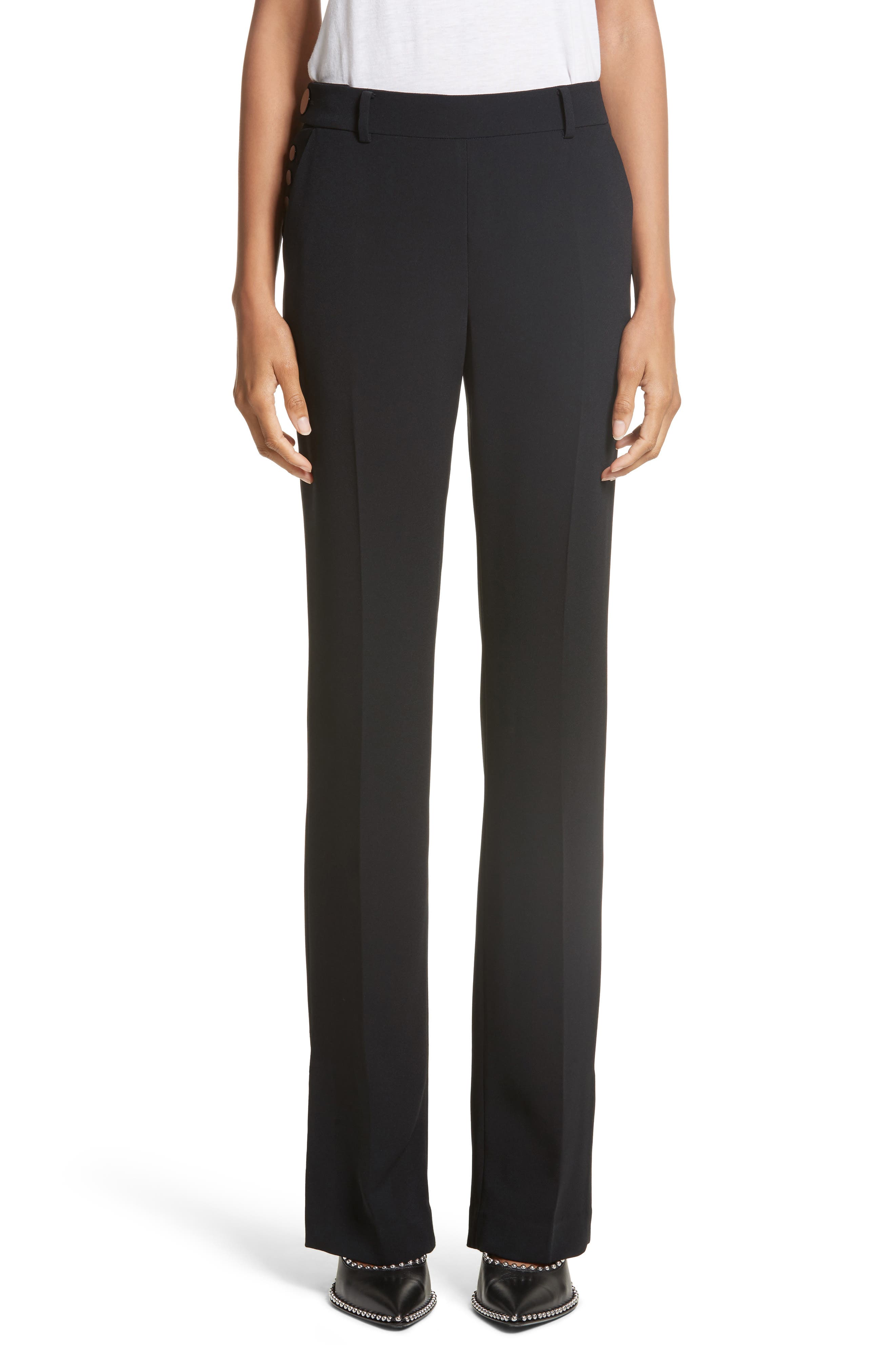 Alexander Wang Side Snap Bootcut Pants