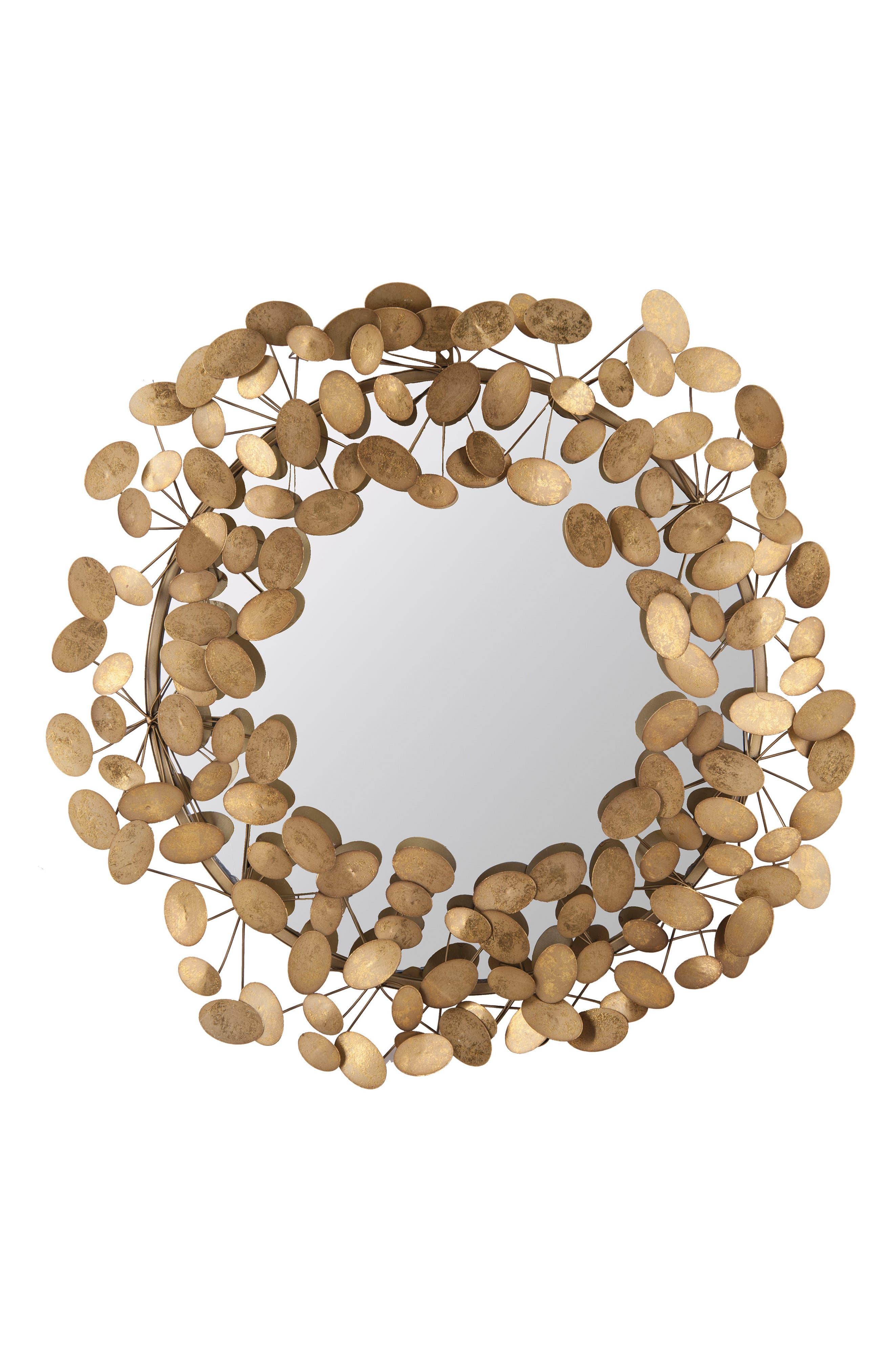 Penny Mirror,                         Main,                         color, Metal/ Glass