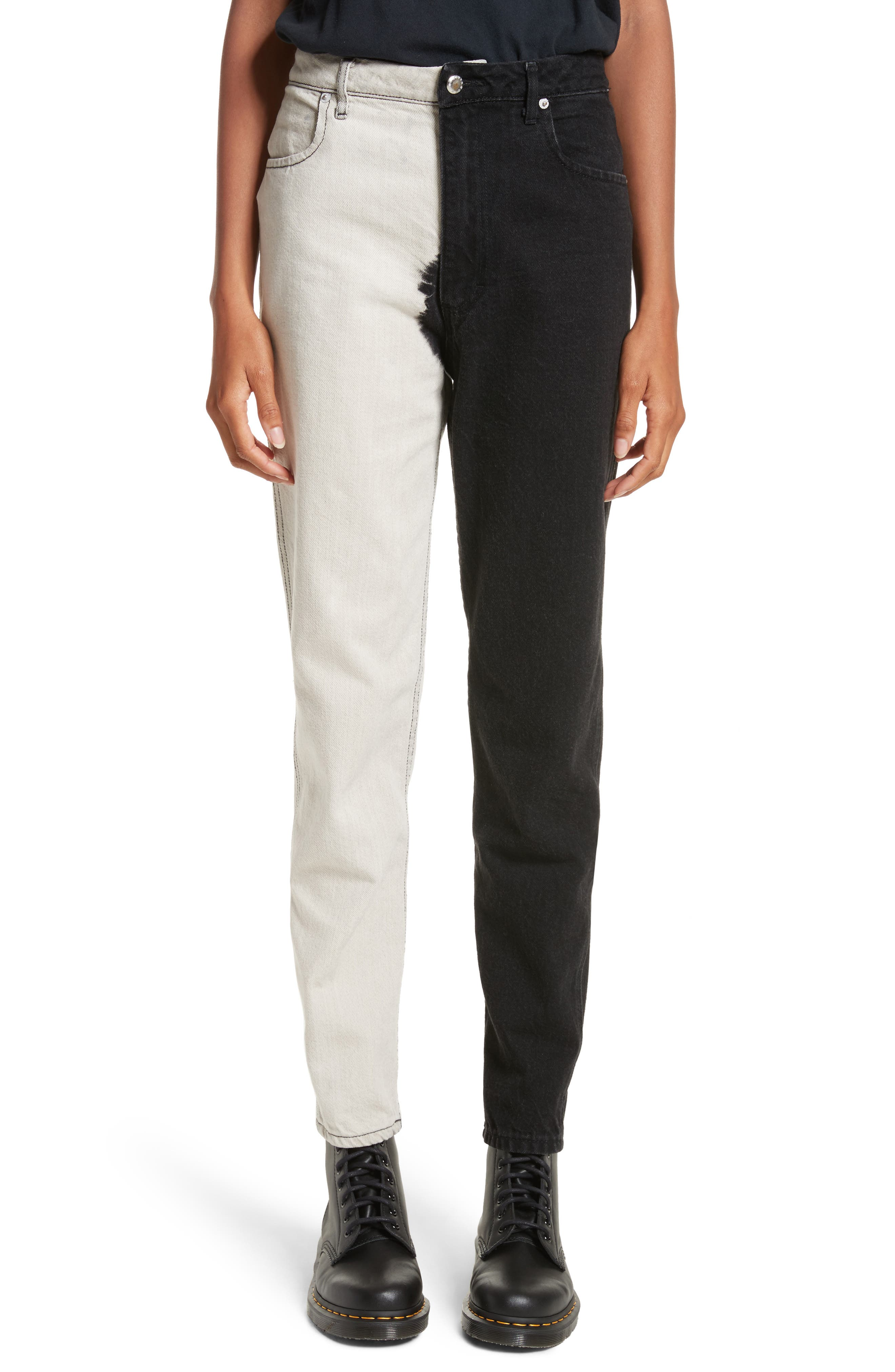 Echkaus Latta EL Dip Dyed Jeans (Black & White)