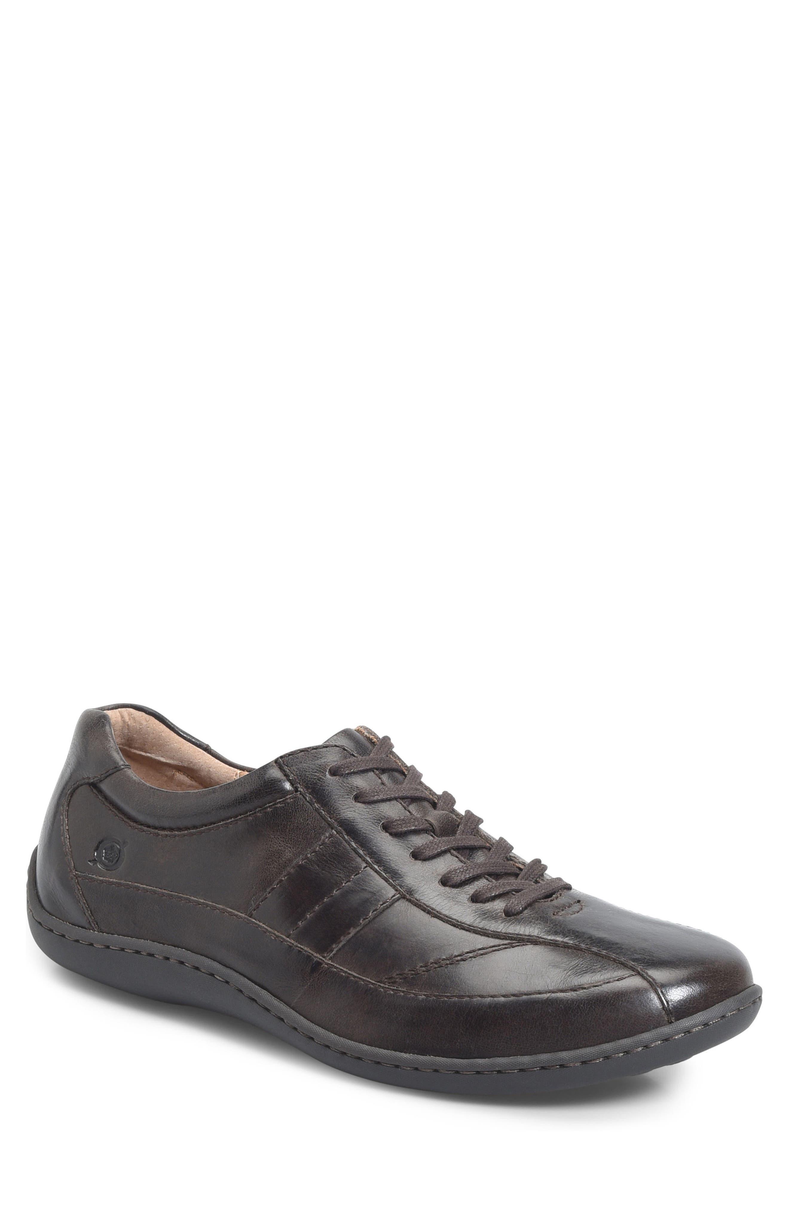 Breves Low Top Sneaker,                             Main thumbnail 1, color,                             Dark Brown Distressed