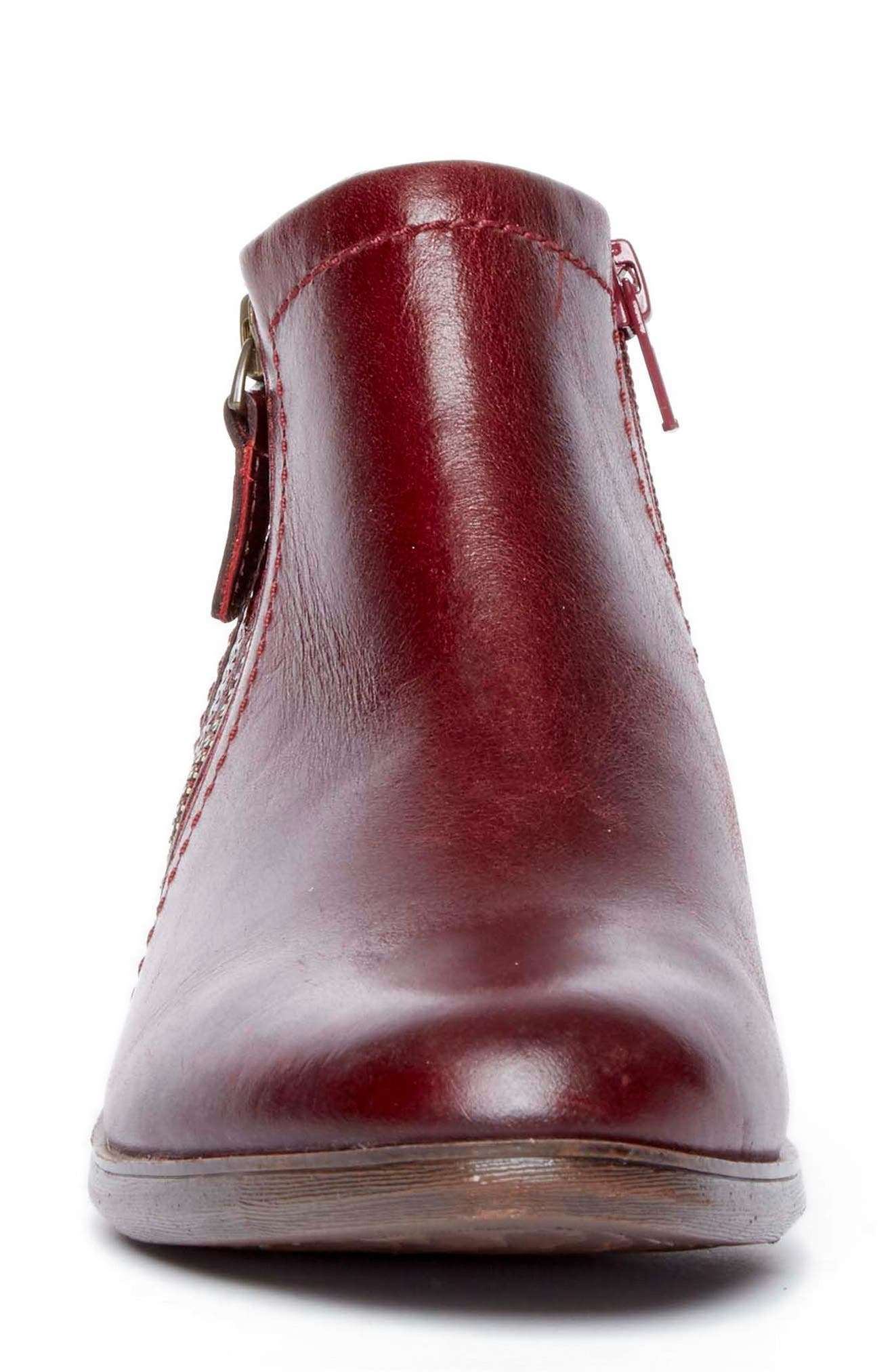 Oliana Bootie,                             Alternate thumbnail 4, color,                             Inferno Leather