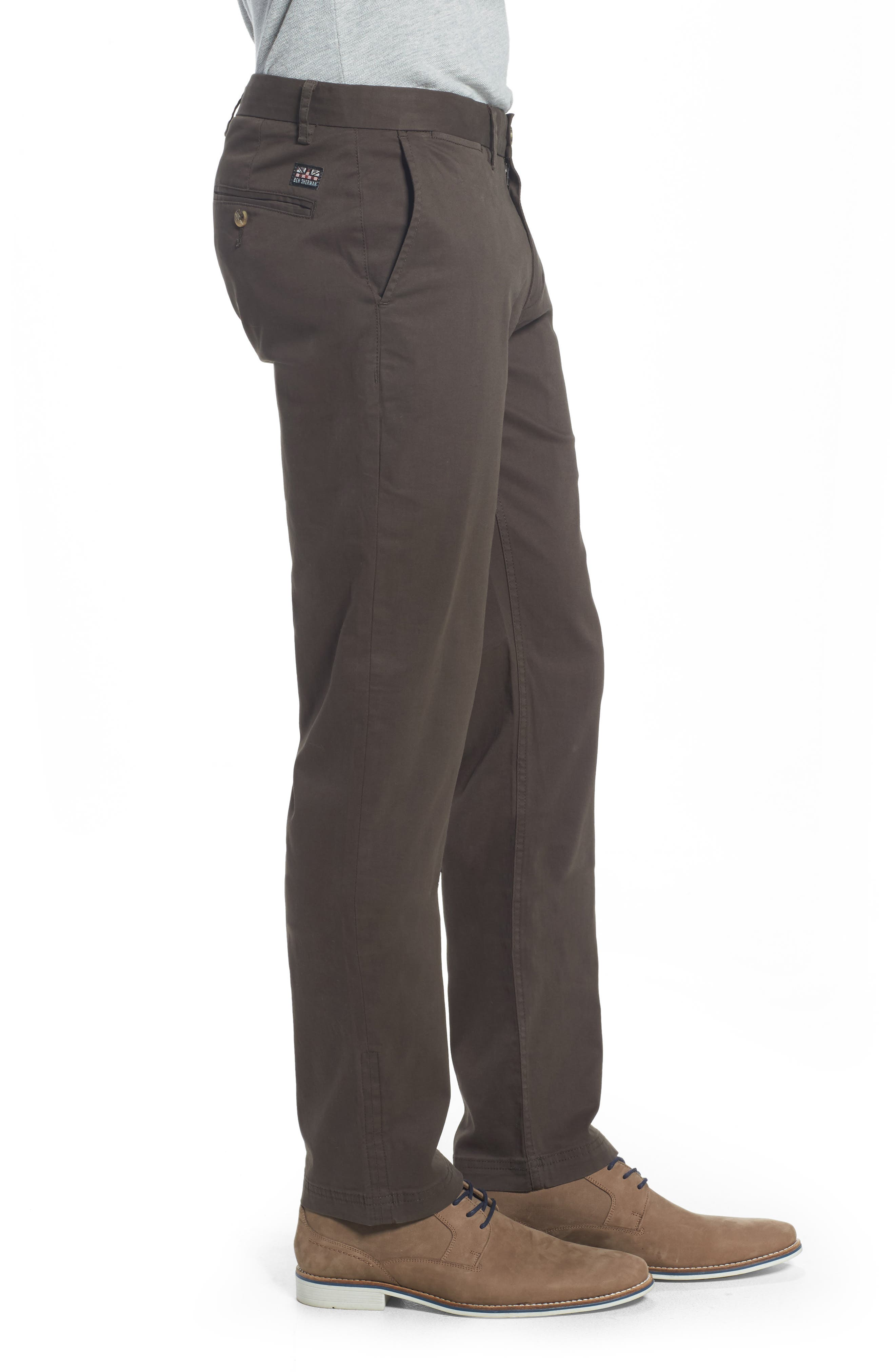Alternate Image 3  - Ben Sherman Slim Fit Stretch Chinos