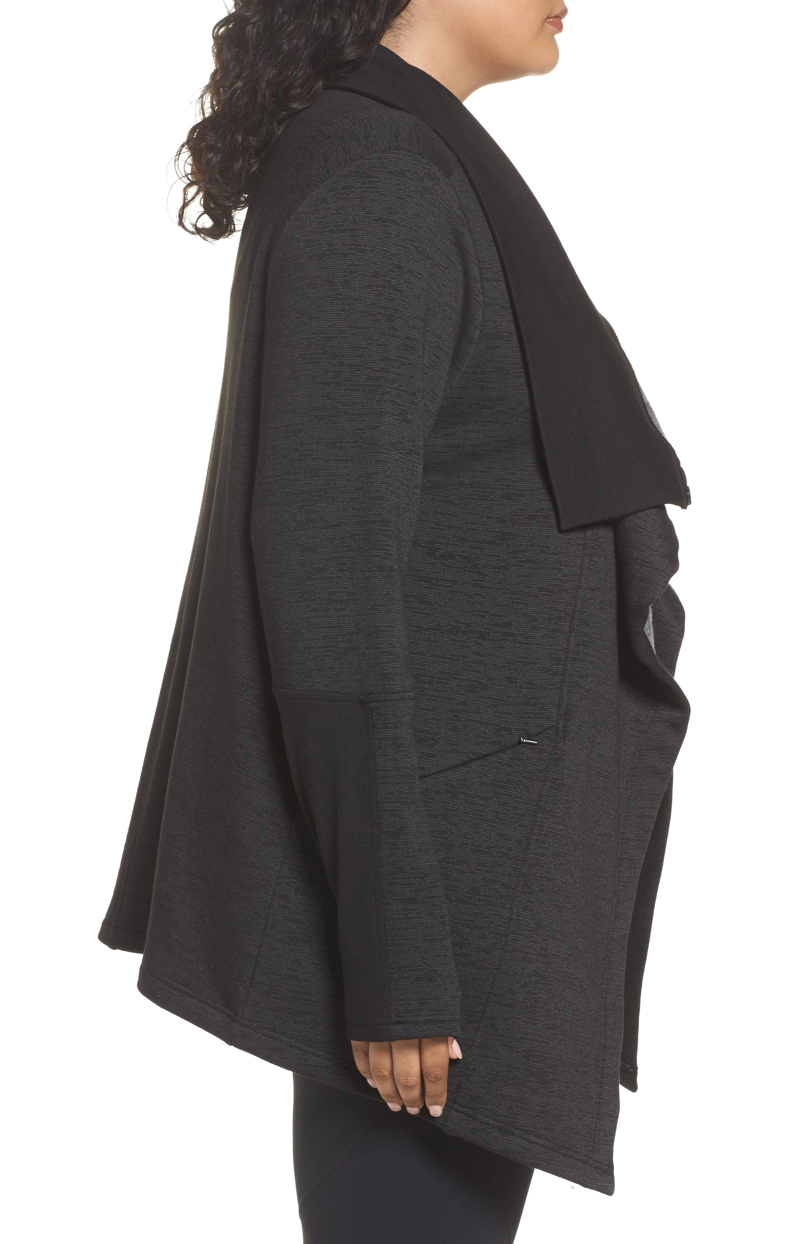 Alternate Image 3  - Zella Elevate Me Wrap Sweatshirt (Plus Size)