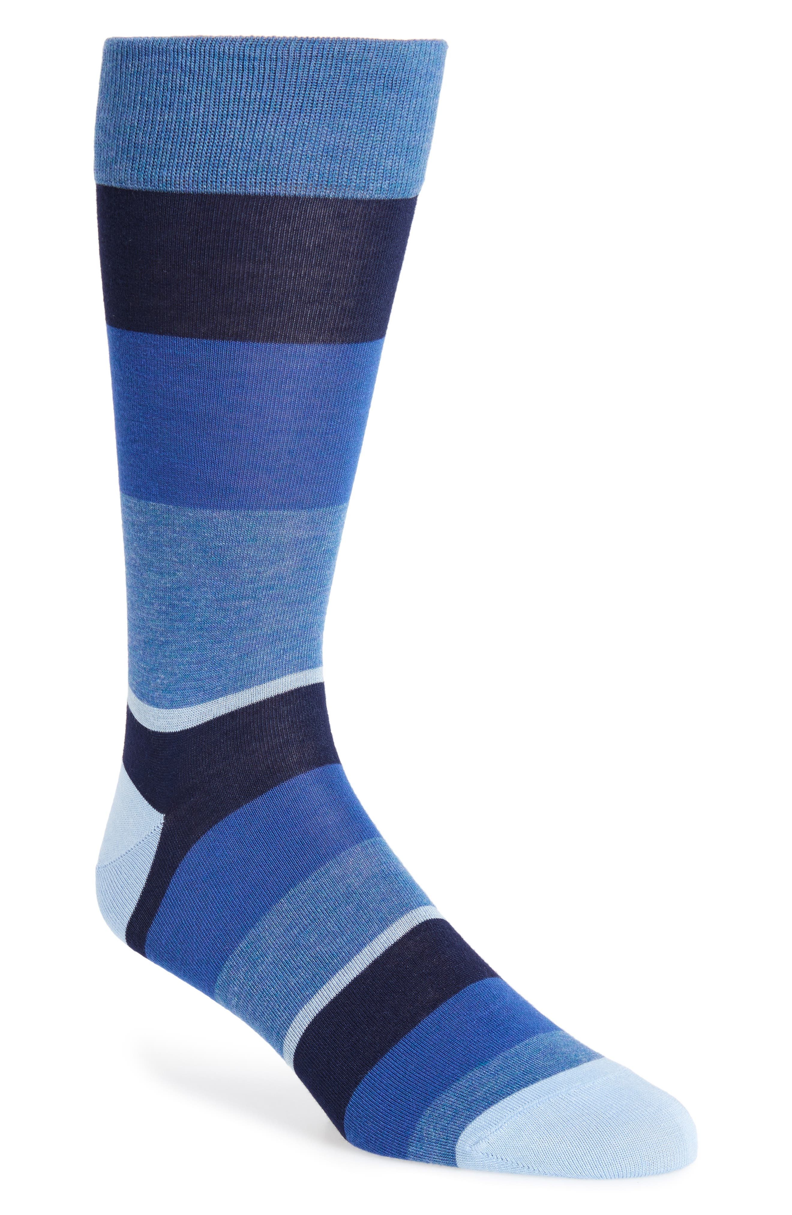 Colorblock Socks,                         Main,                         color, Navy