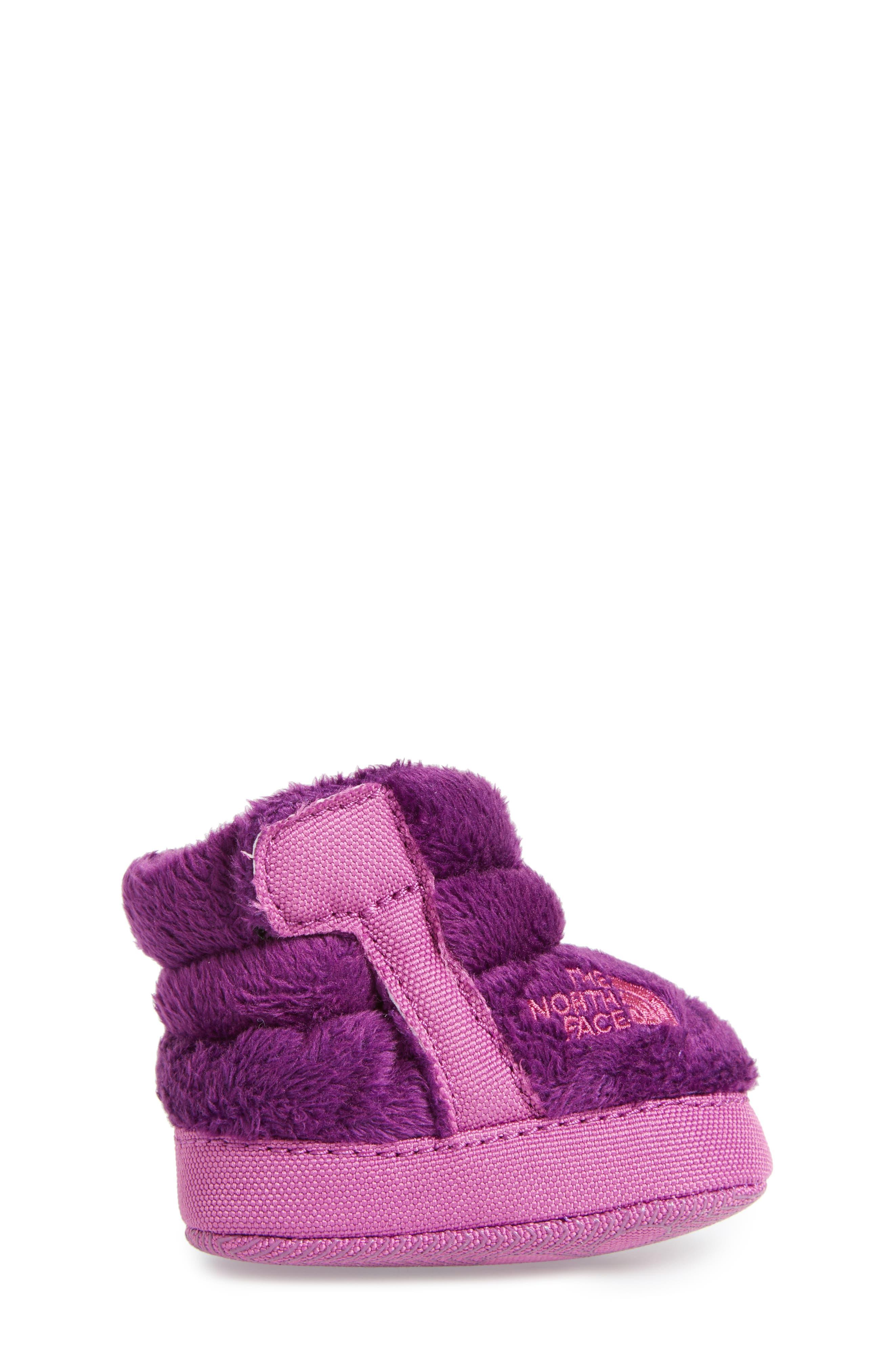 Faux Fur Bootie,                             Alternate thumbnail 3, color,                             Wood Violet