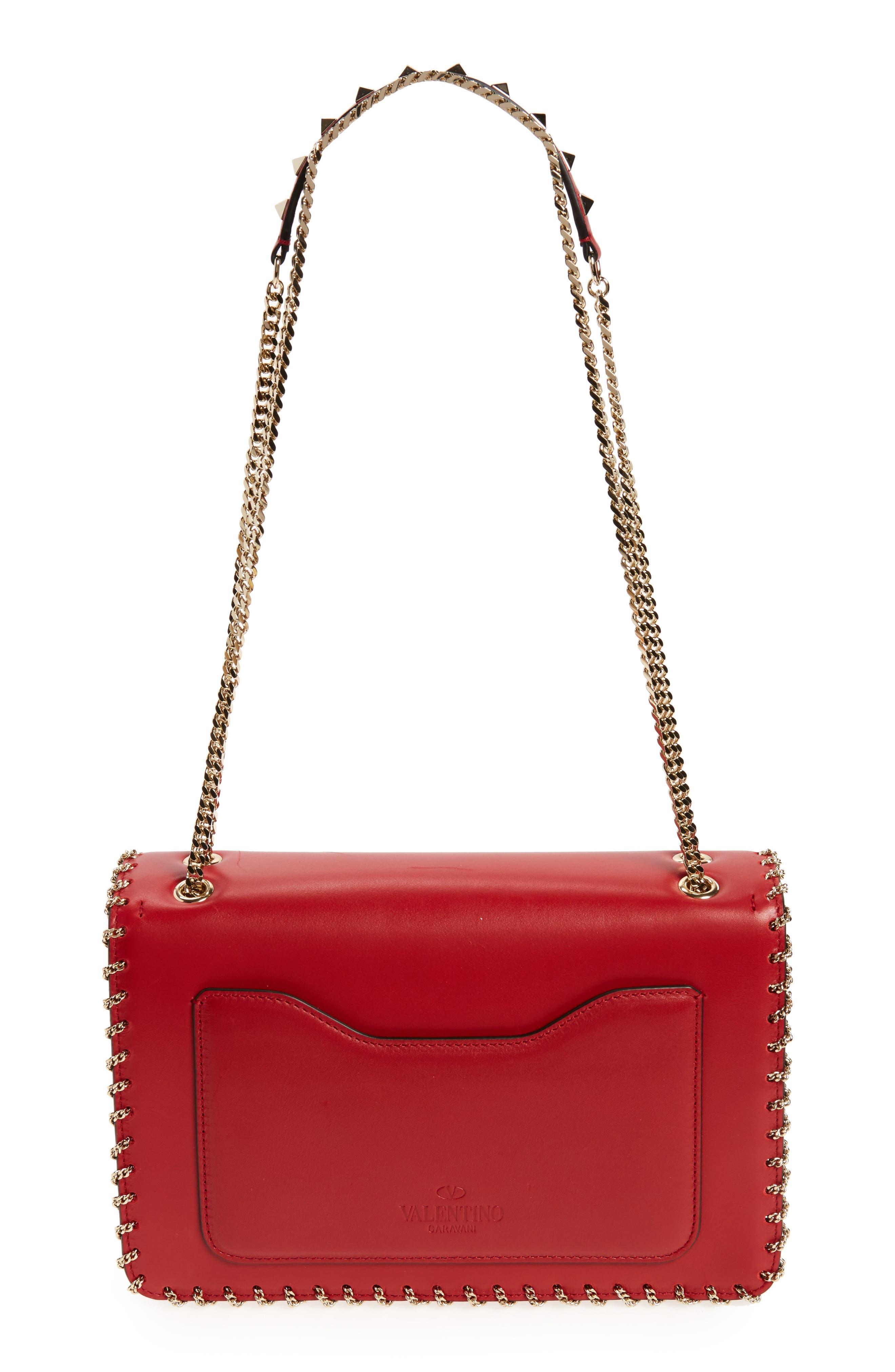 Alternate Image 2  - VALENTINO GARAVANI Demilune Whipstitch Leather Shoulder Bag