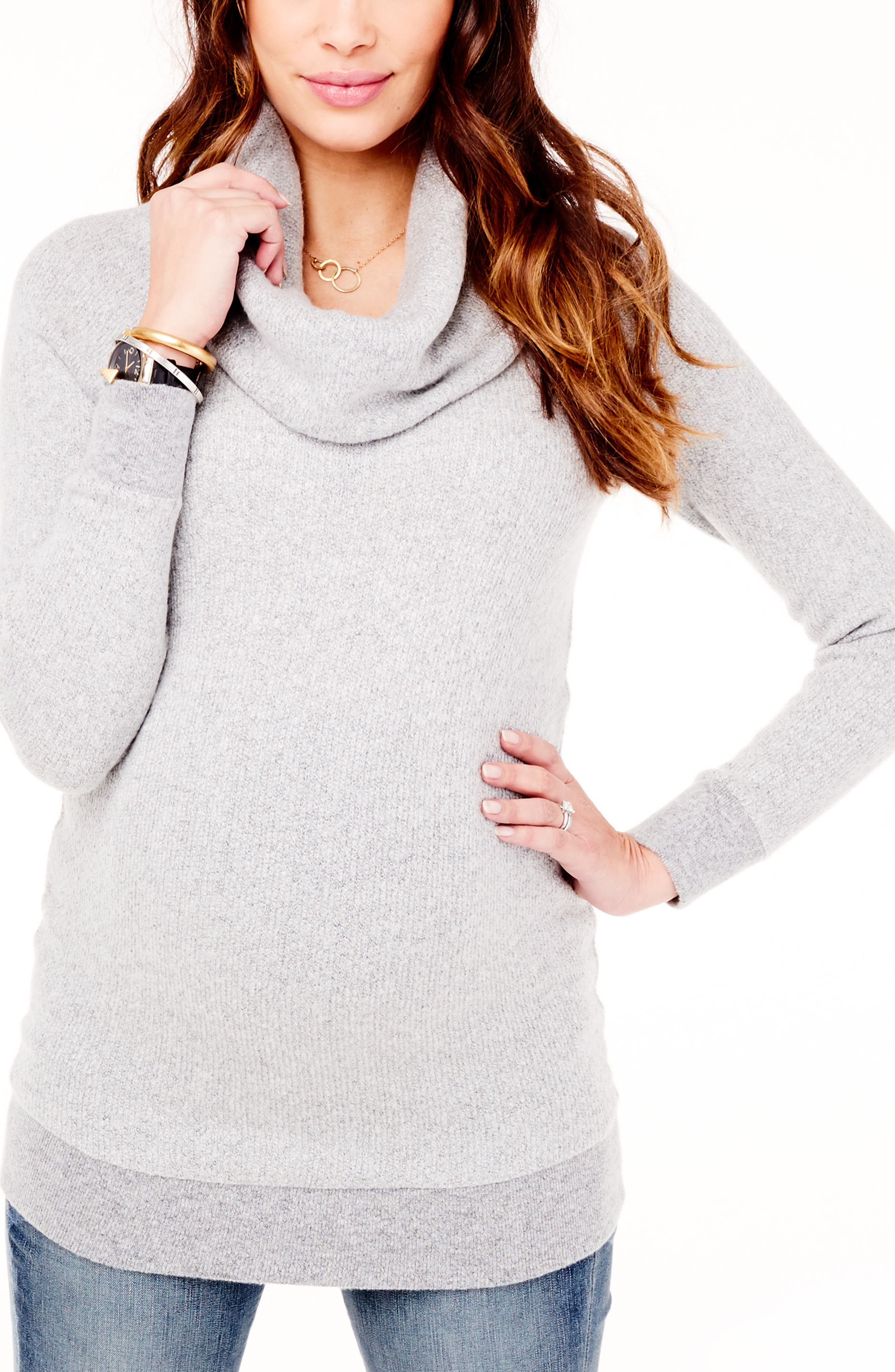 Ingrid & Isabel® Cowl Neck Maternity Sweater