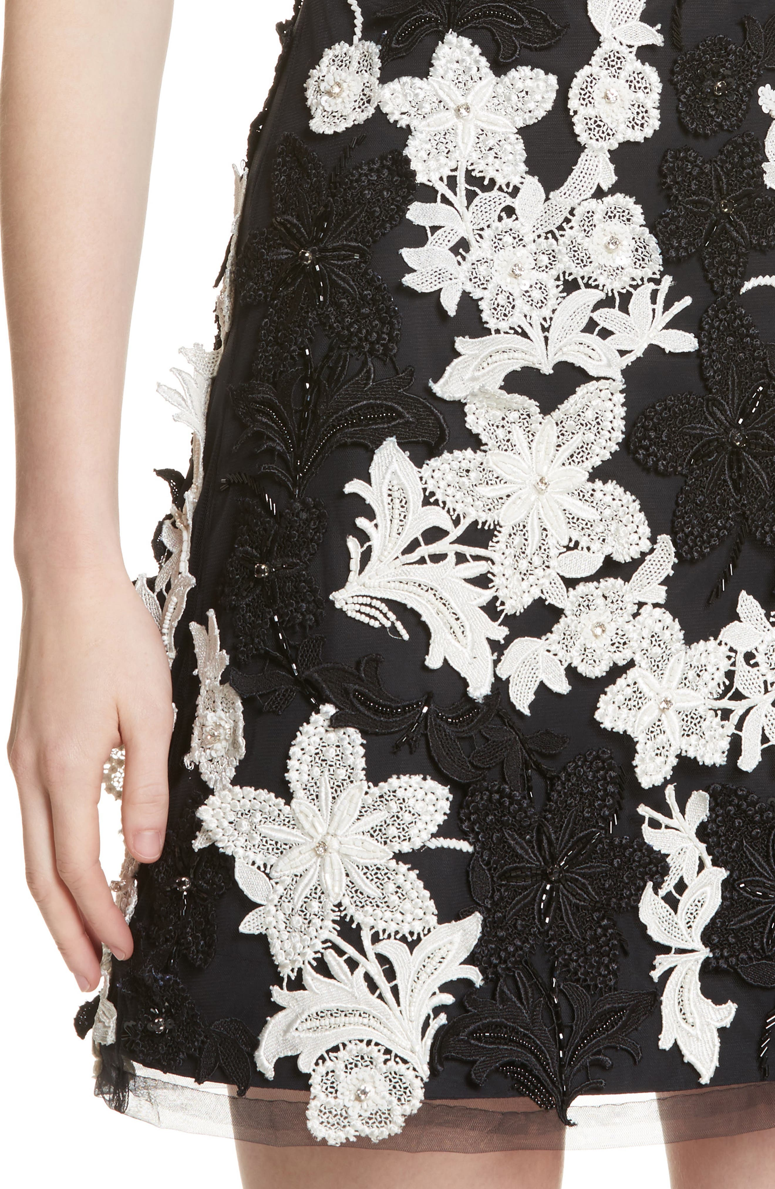 Alternate Image 4  - Alice + Olivia Embellished V-Neck Dress
