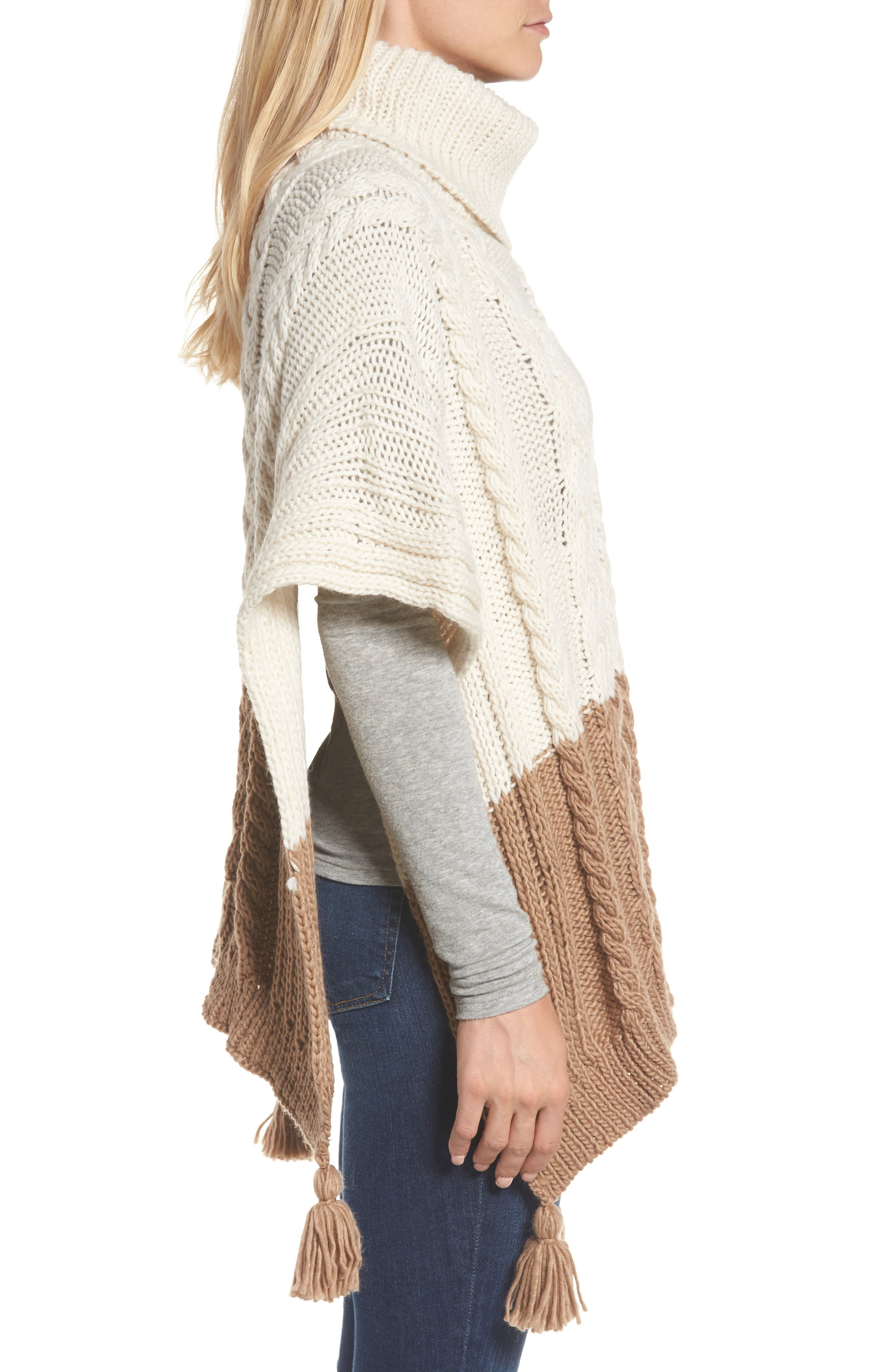 Alternate Image 3  - BCBGMAXAZRIA Cable Knit Poncho