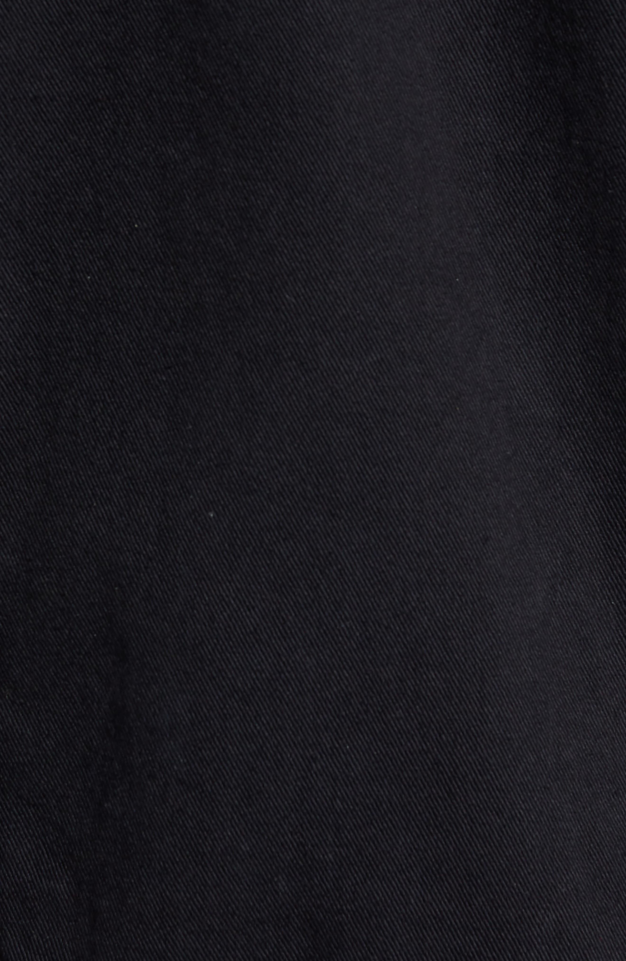 Lindso Distressed Denim Jacket,                             Alternate thumbnail 5, color,                             Black Damage