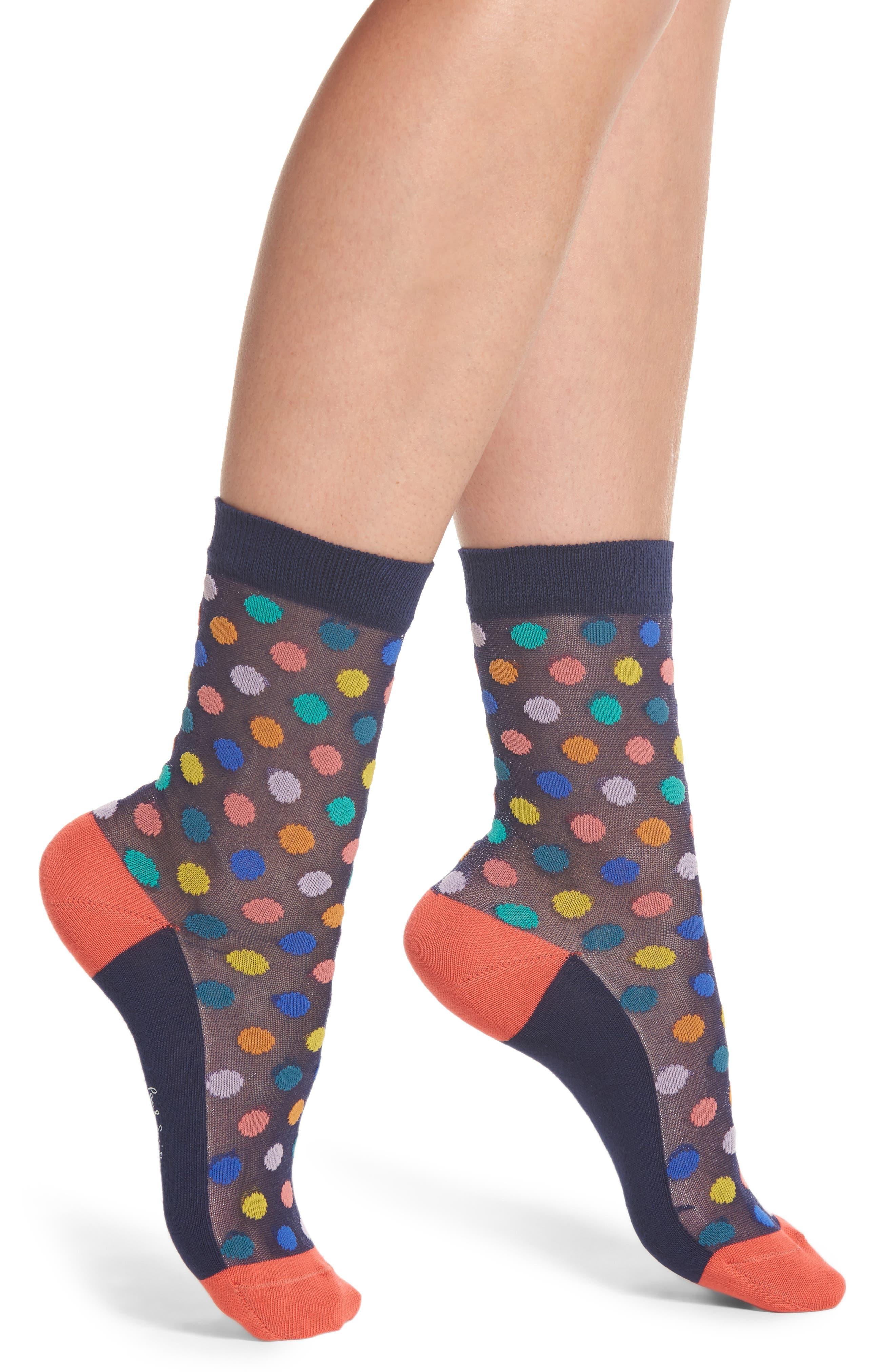 Main Image - Paul Smith Franny Rainbow Ankle Socks